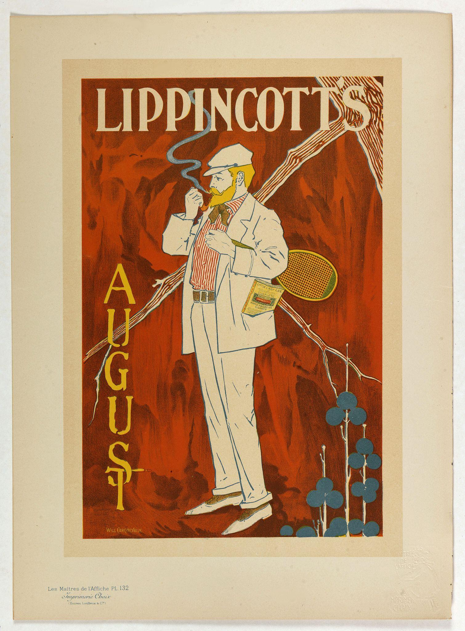 CARQUEVILLE, W. -  Lippincott's August.