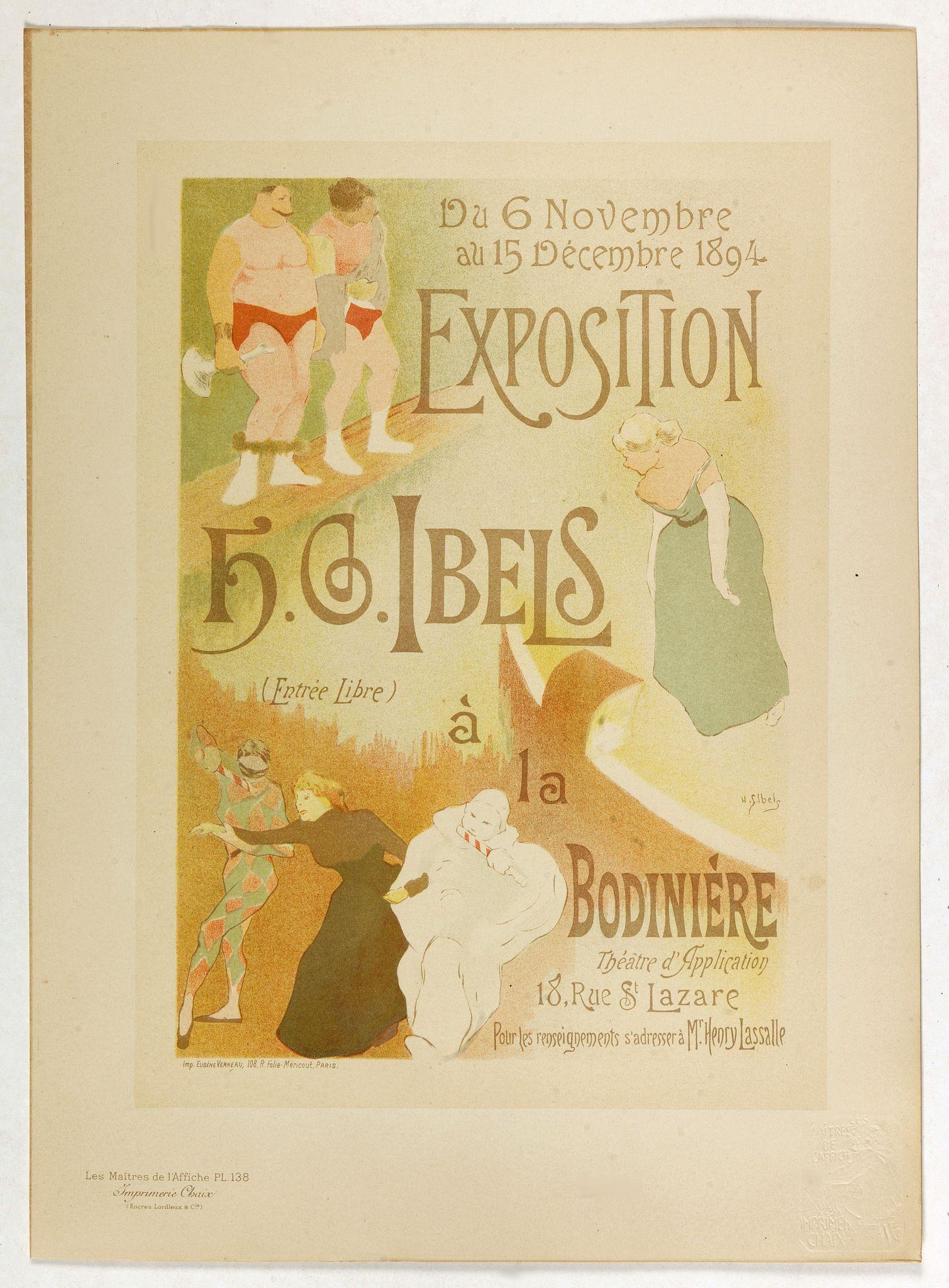 IBELS, H.G. -  Exposition à la Bodiniére . . .