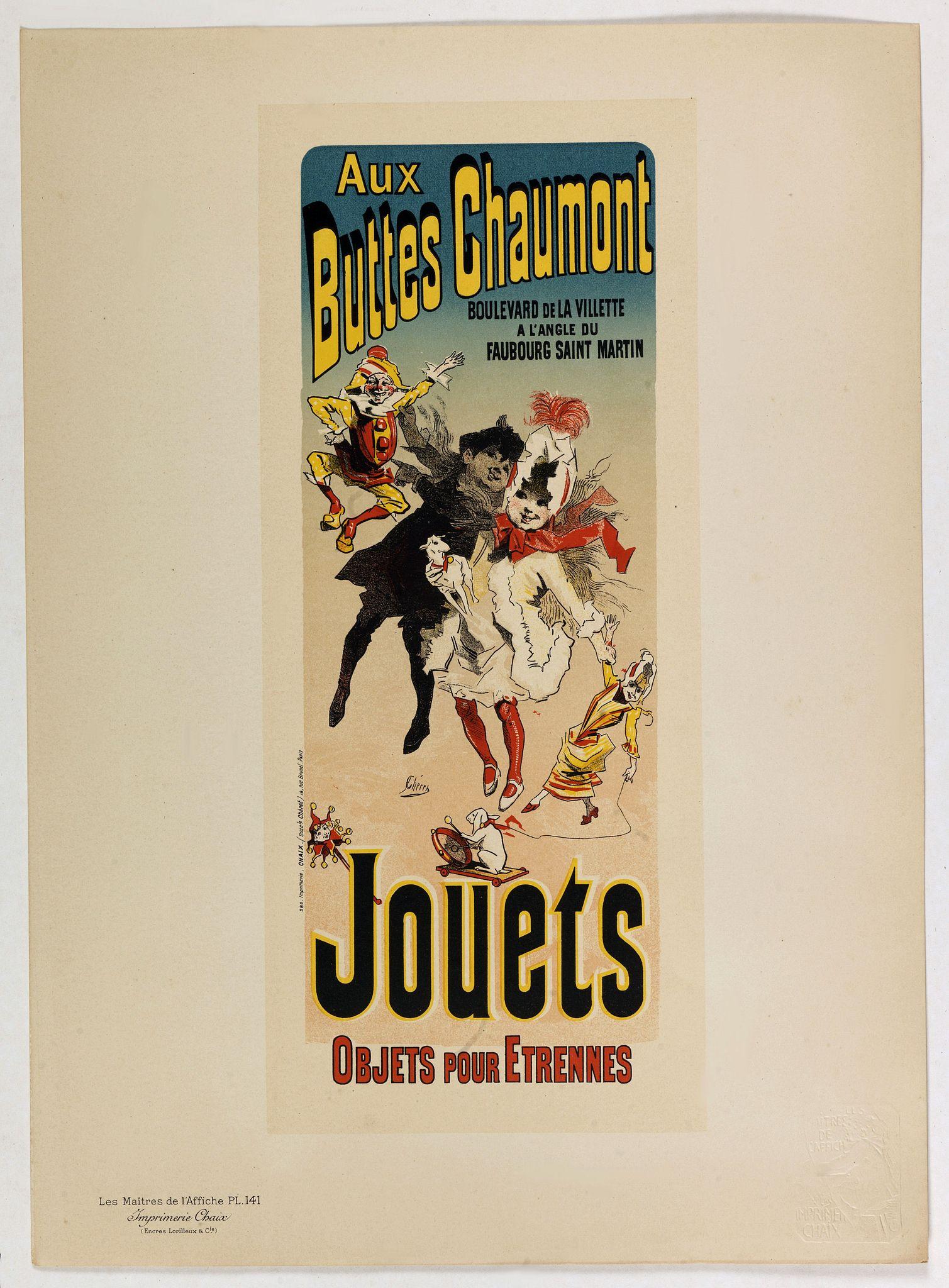 CHERET, J. -  Aux buttes Chaumont.