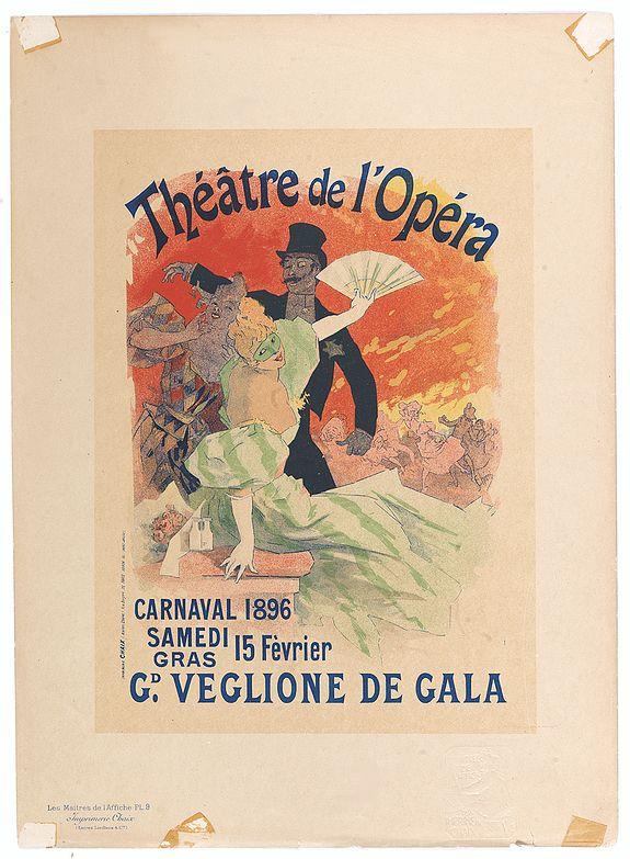 CHERET, J. -  Théatre de l'Opéra - Carnaval 1896.