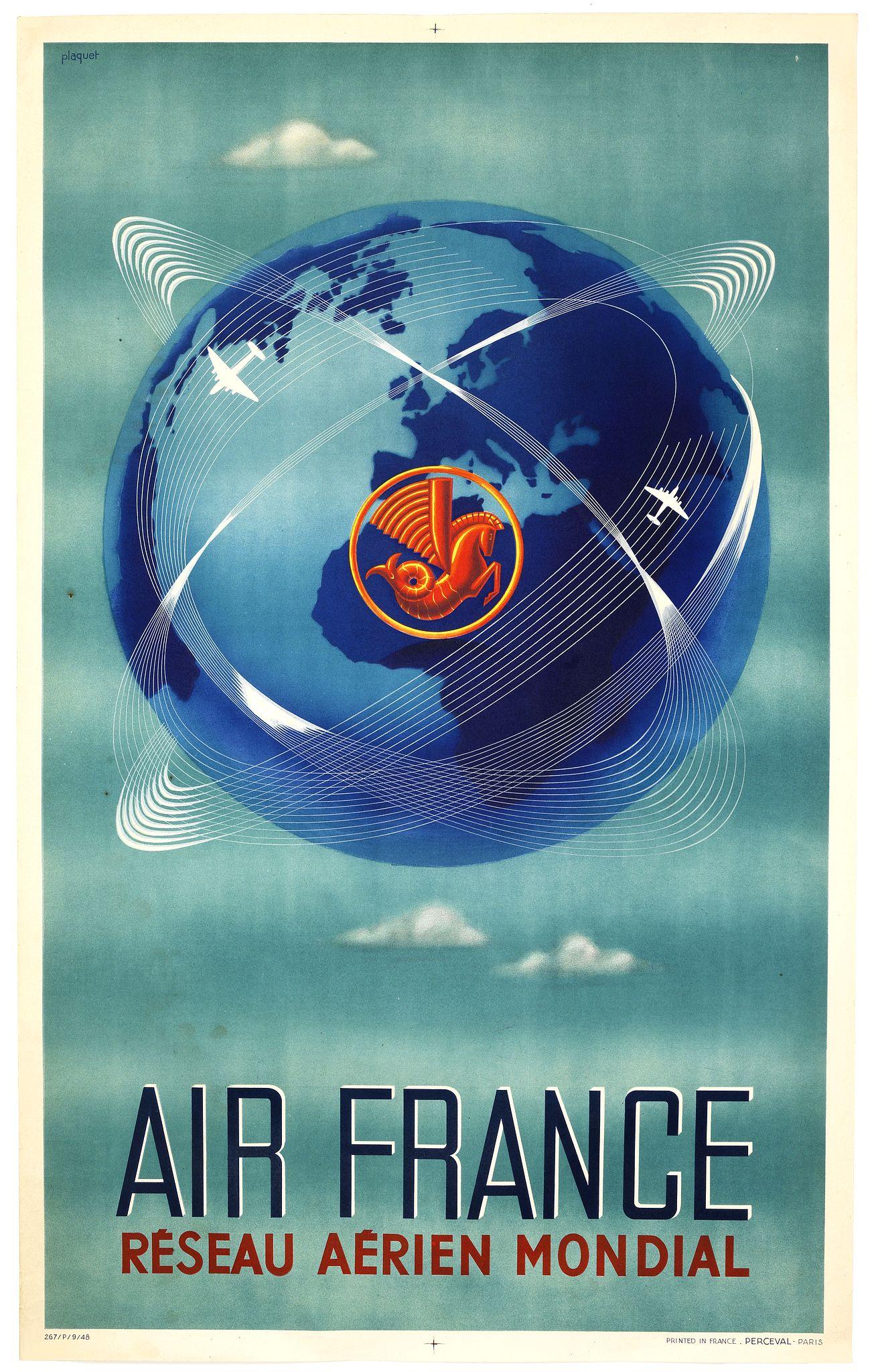 PLAQUET -  AIR FRANCE Réseau aérien mondial.