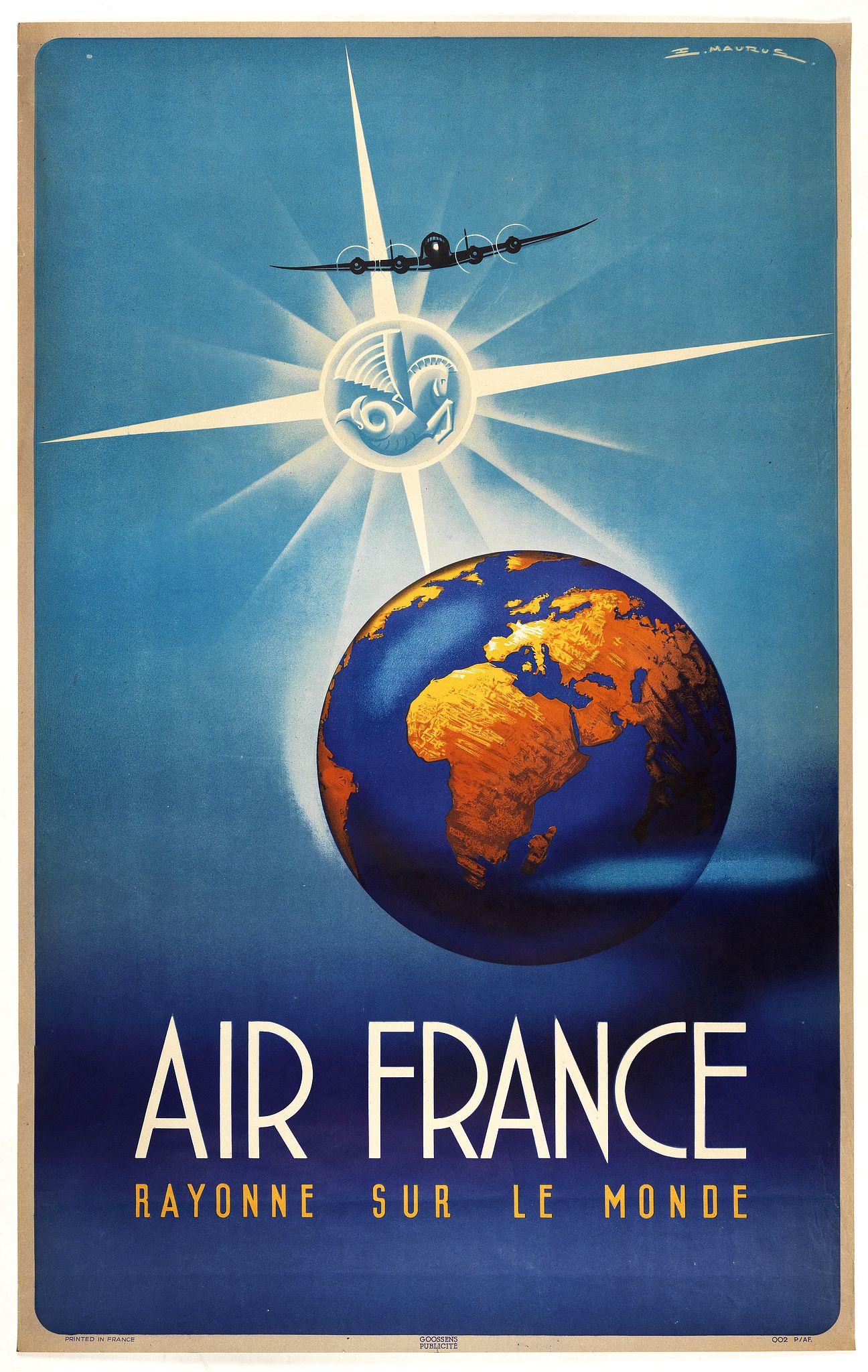 MAURUS.  -  Air France Rayonne sur le monde.