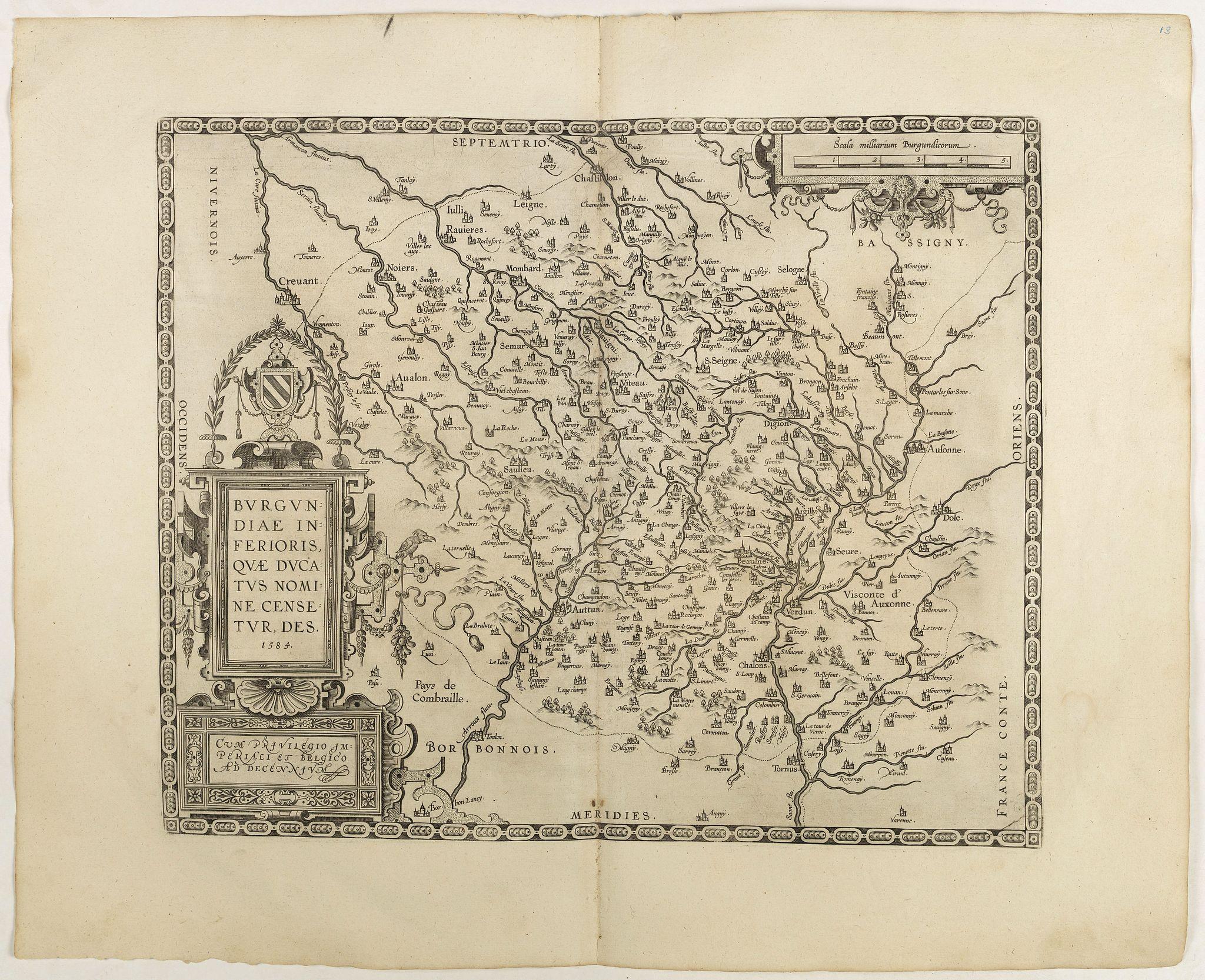 ORTELIUS, A. -  Burgundiae inferioris quae Ducatus Nomine Censetur, Des.