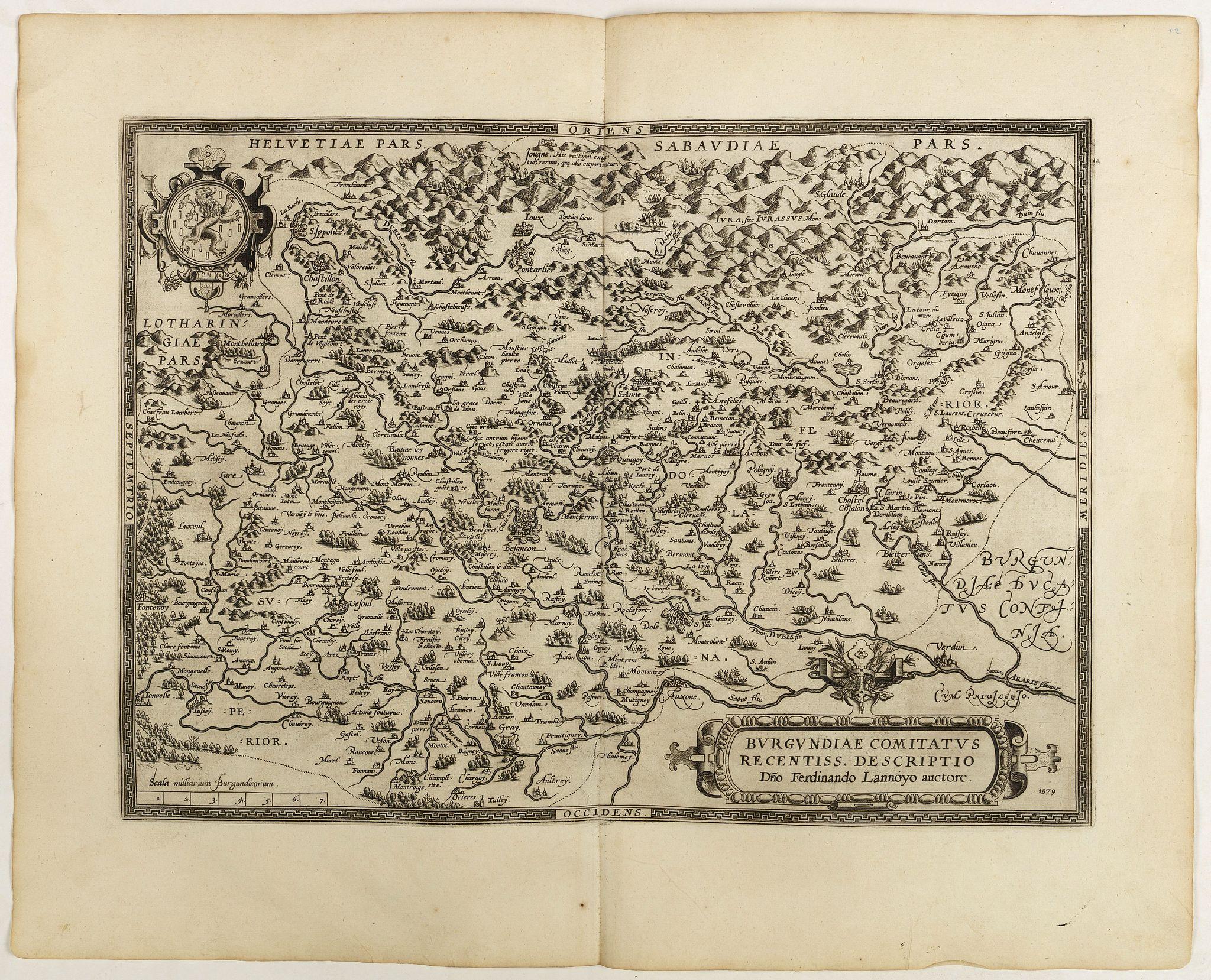ORTELIUS, A. -  Burgundiae Comitatus Recentiss. Descriptio.