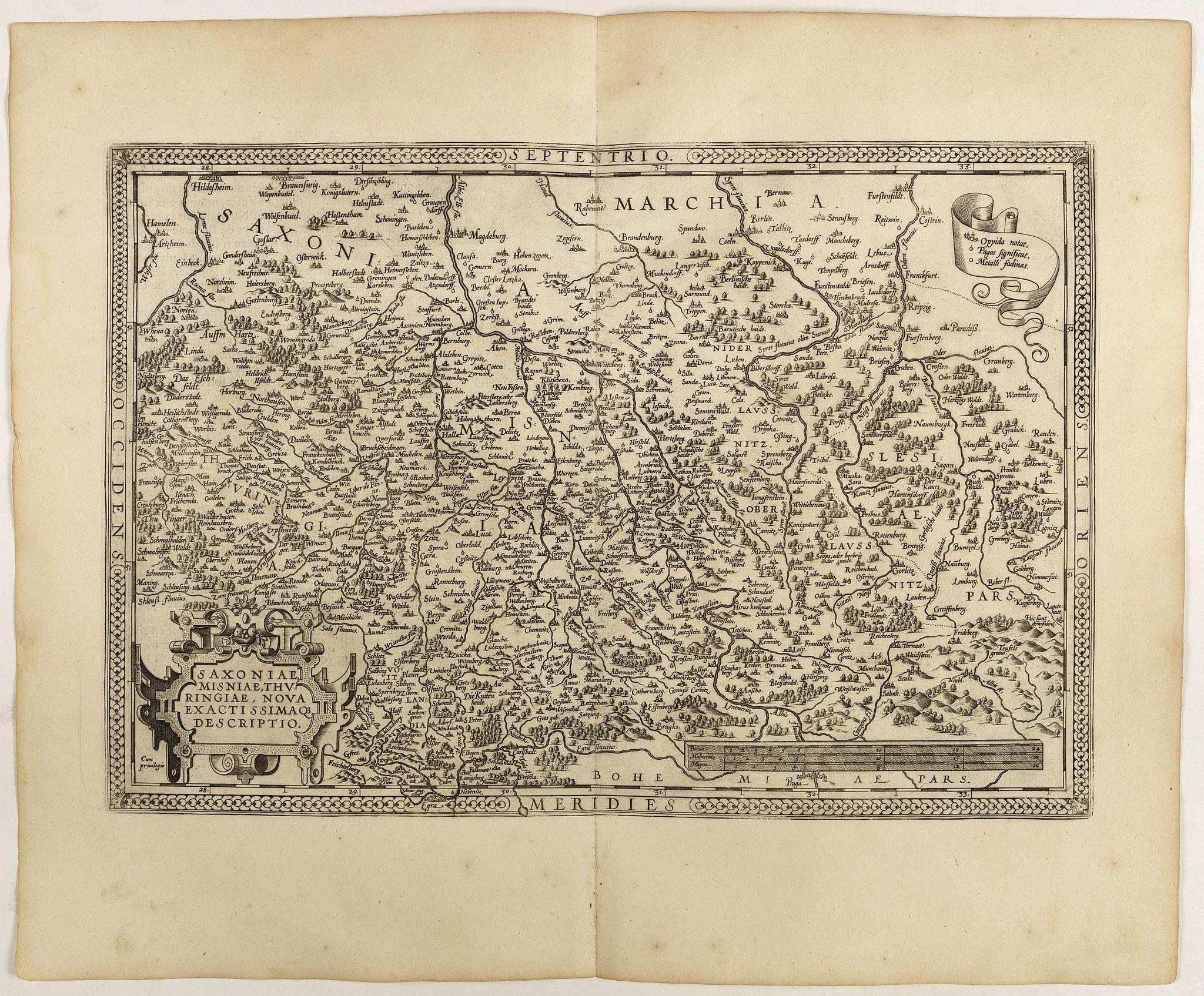 ORTELIUS, A. -  Saxoniae Misniae Thuringiae.