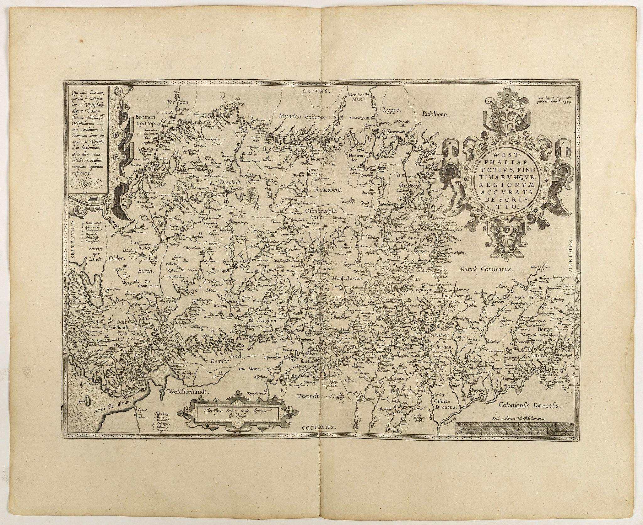ORTELIUS, A. -  Westphaliae . . .