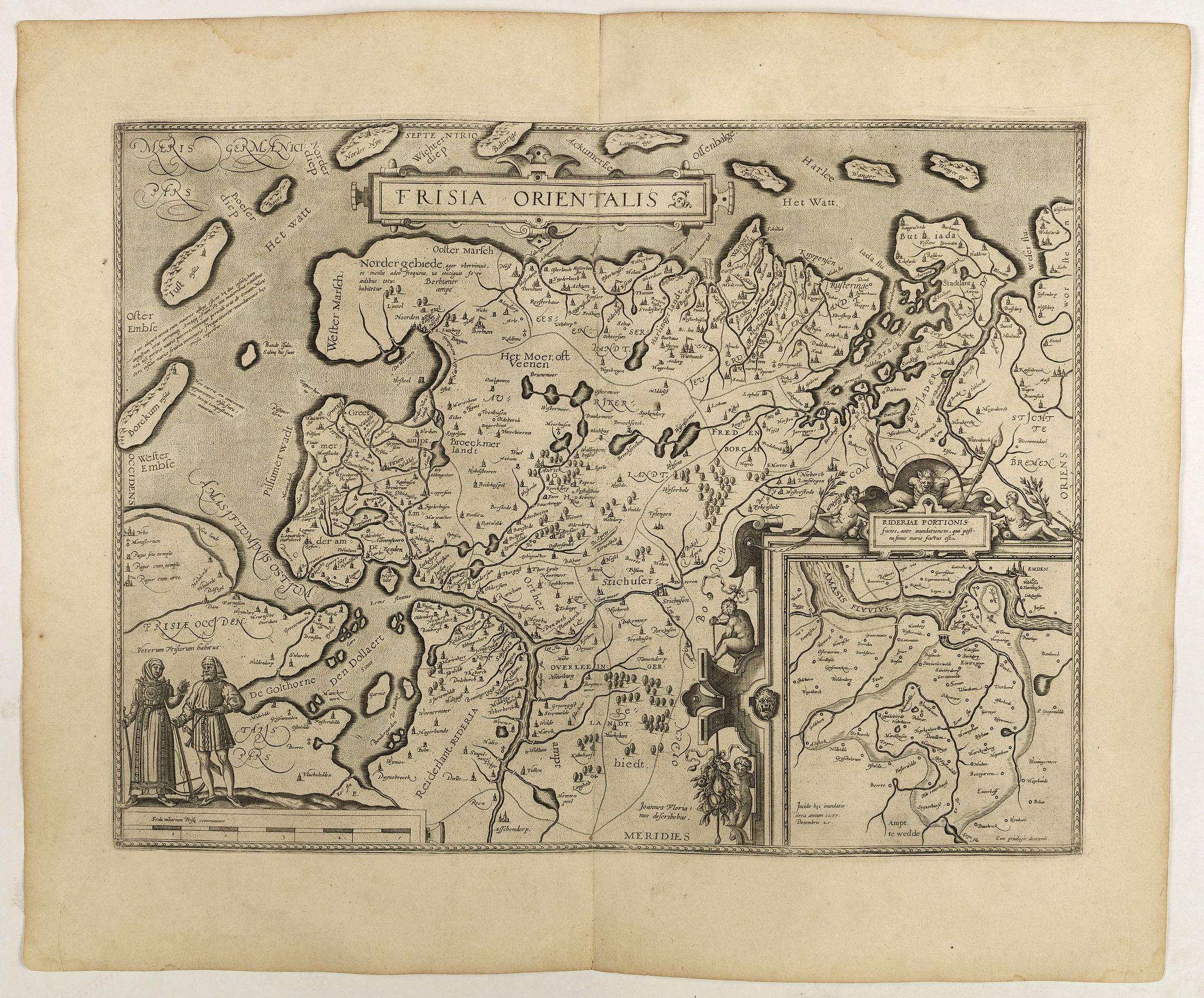 ORTELIUS, A. -  Frisia Orientalis.