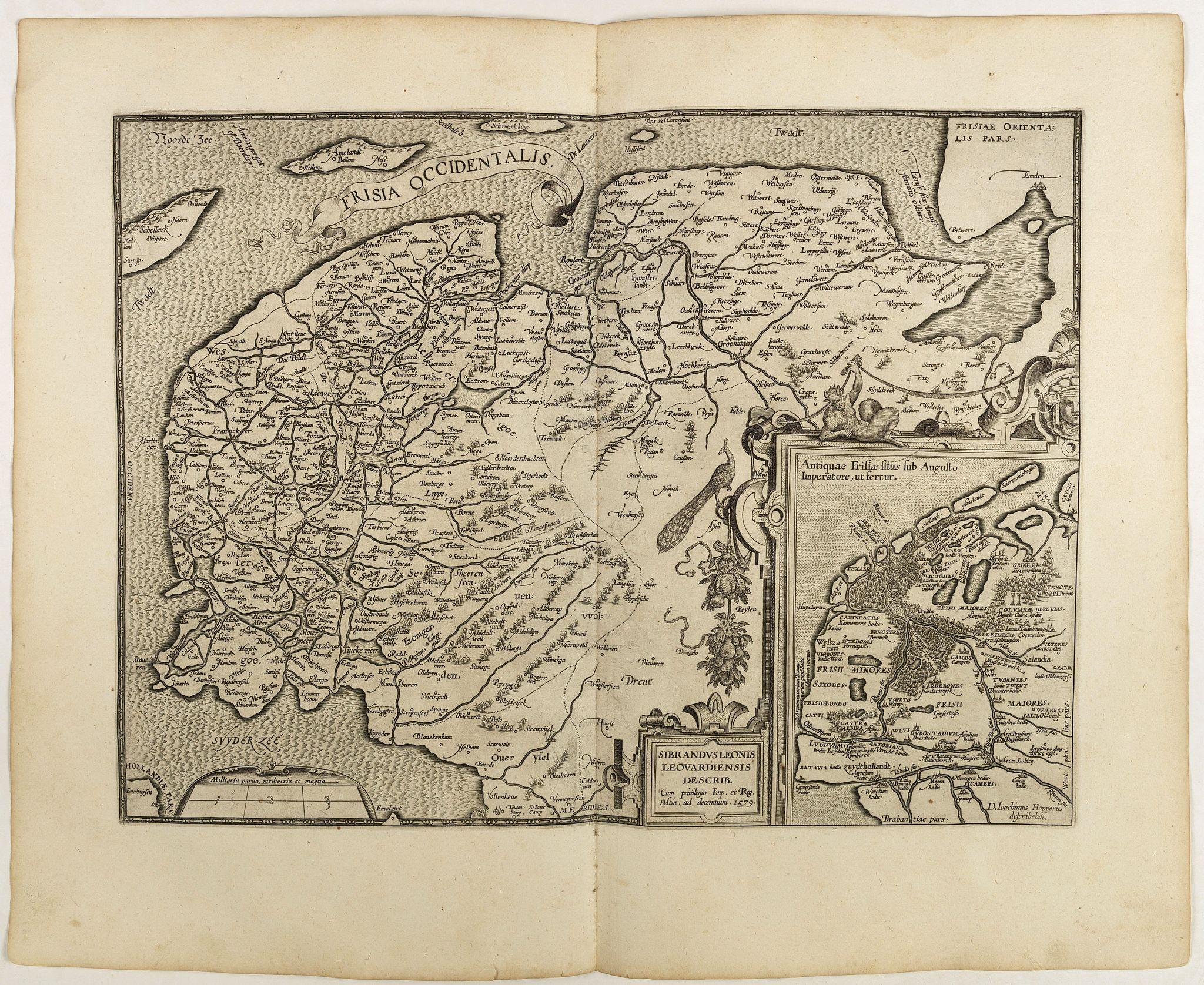 ORTELIUS, A. -  Frisia Occidentalis.
