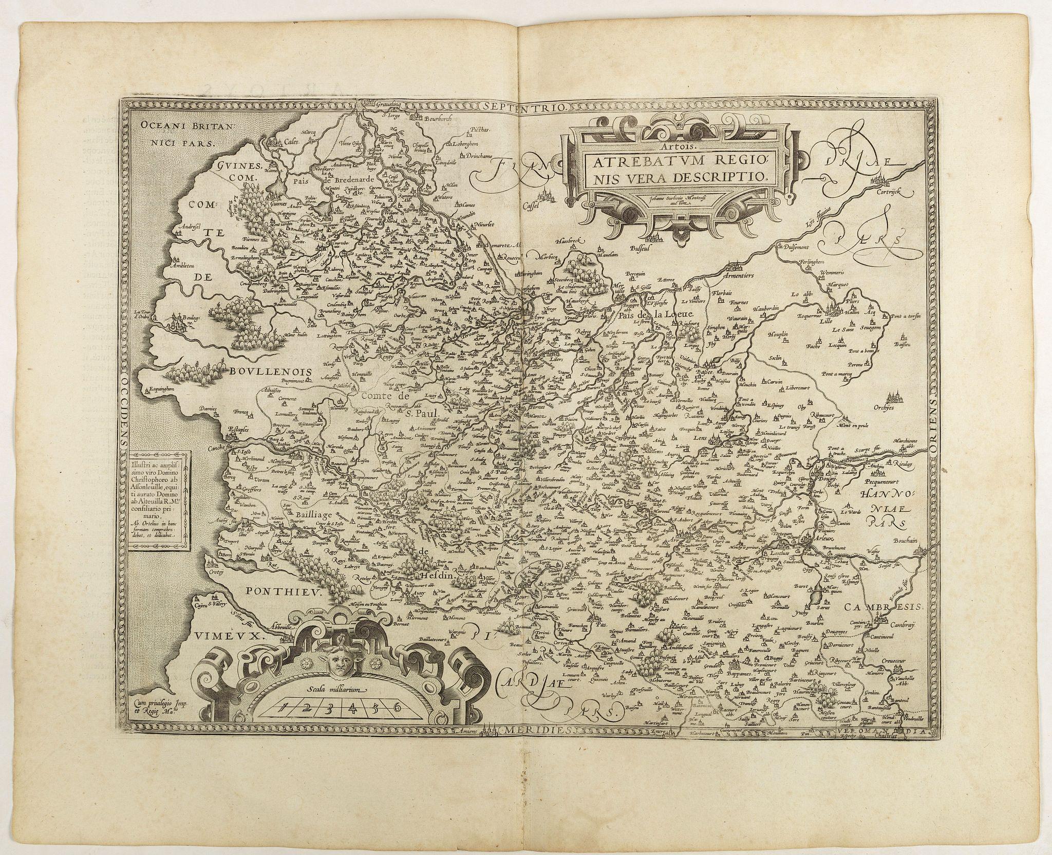 ORTELIUS, A. -  Artois.  Atrebatum Regionis Vera Descripto.