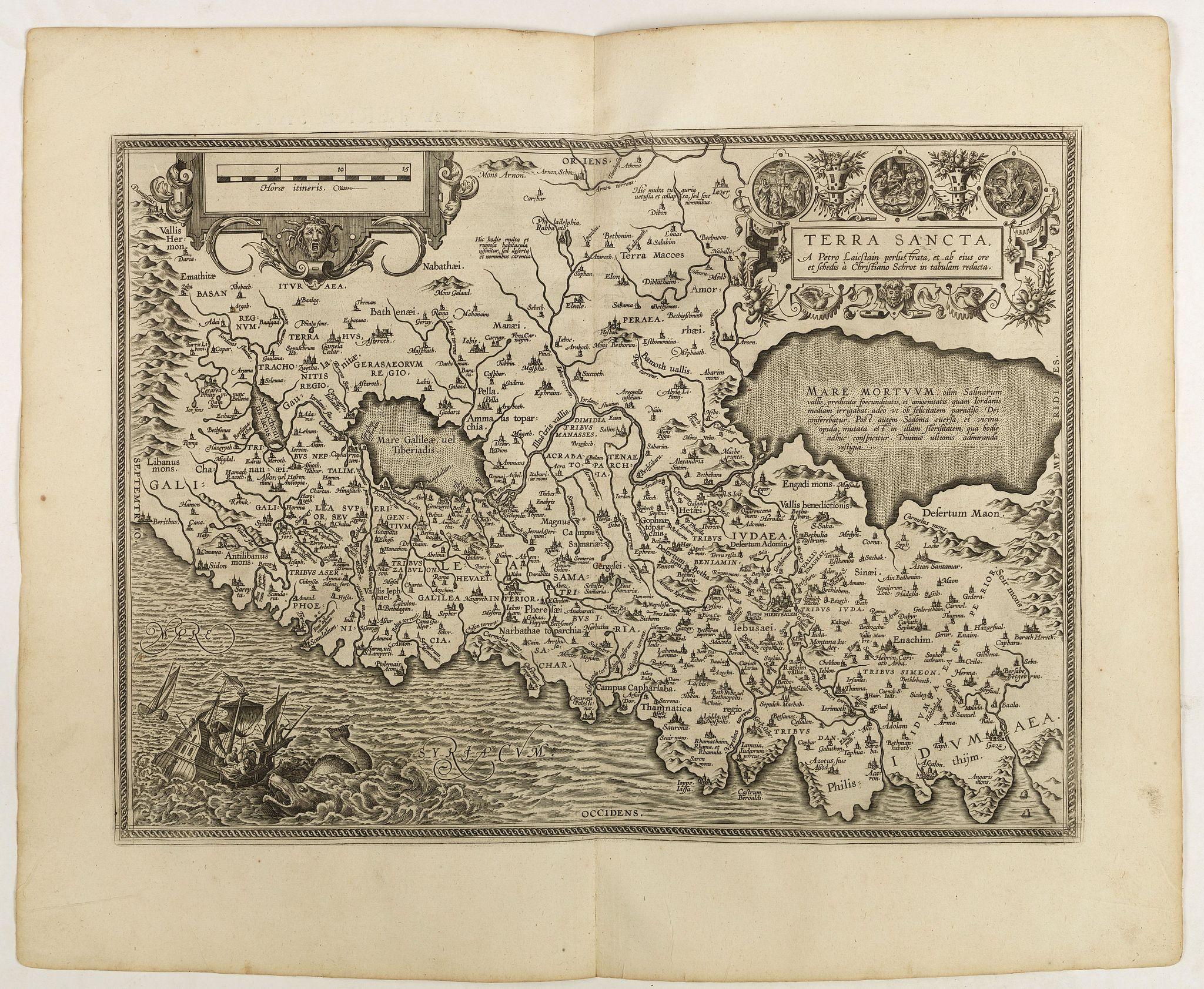 ORTELIUS, A. -  Terra Sancta A Petro Laicstain perlustrata, et ab eius ore