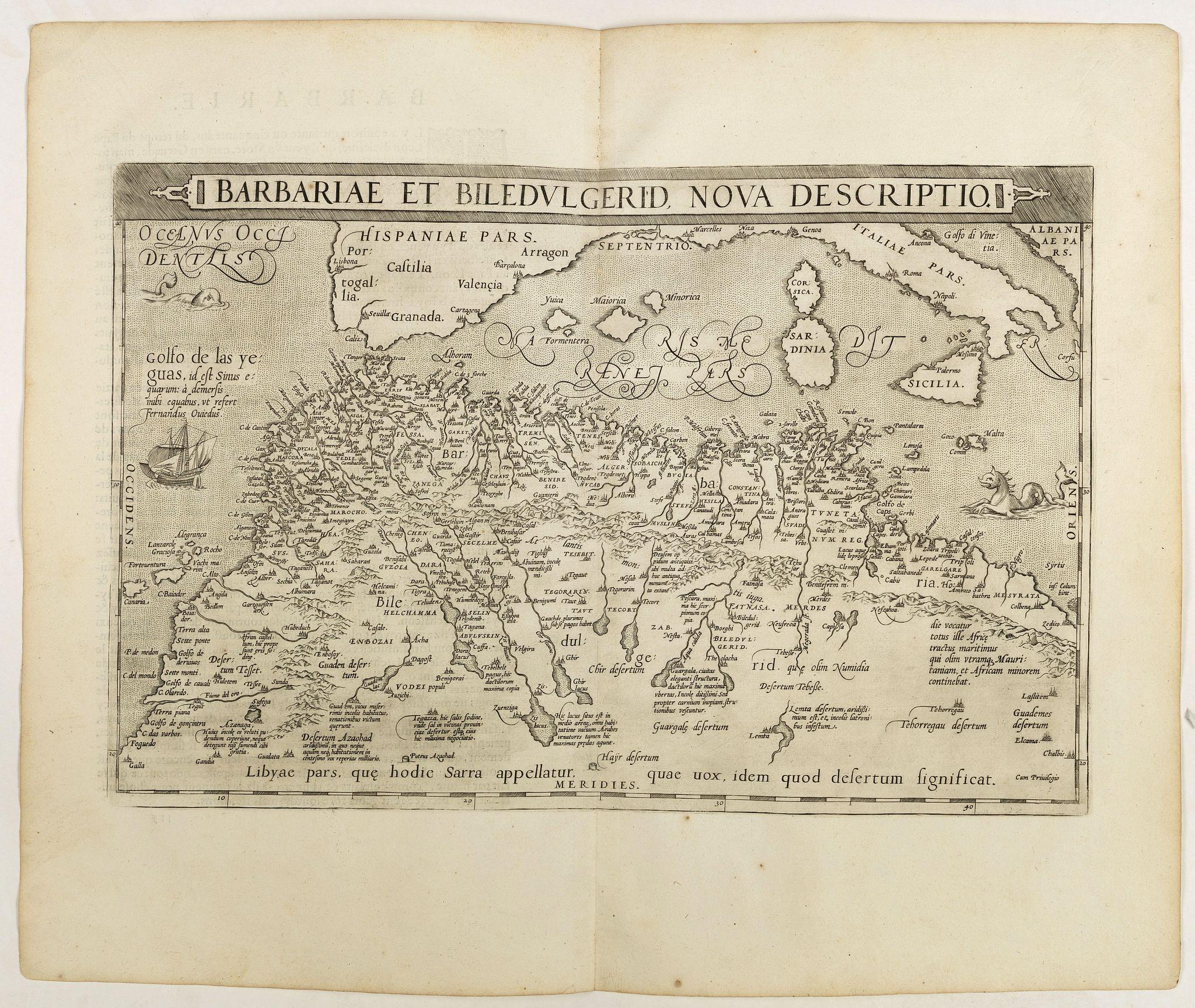 ORTELIUS, A. -  Barbariae et Biledulgerid, nova descriptio.