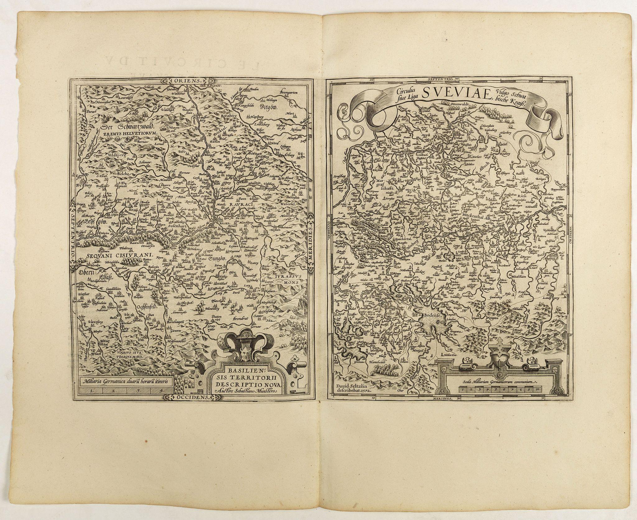 ORTELIUS, A. -  Basiliensis territorii descriptio nova./Circulus sue Liga. . .