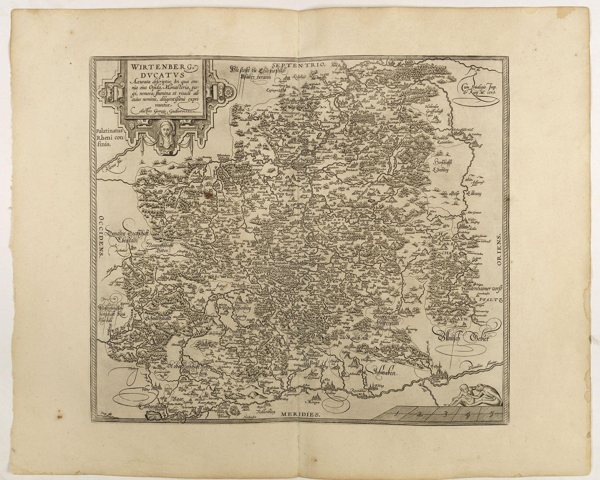 ORTELIUS, A. -  Wirtenberg Ducatus . . .