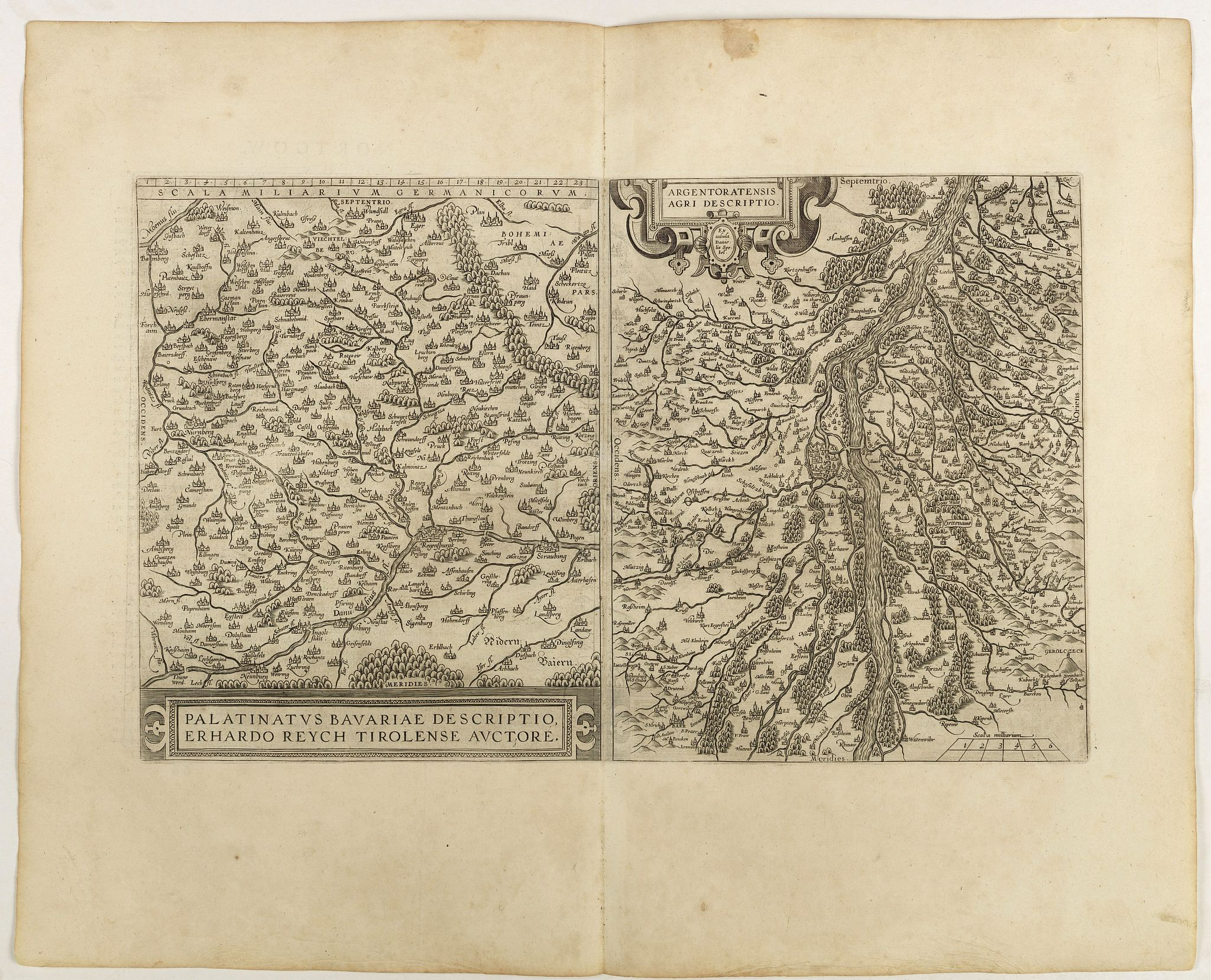 ORTELIUS, A. -  Palatinatvs Bavariae . . . / Argentoratensis agri . . .