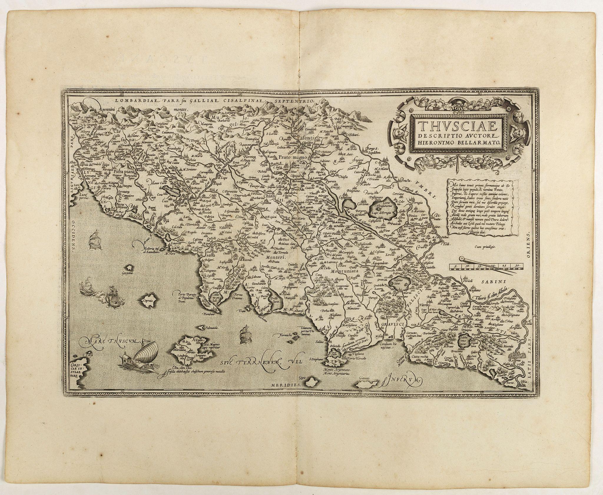 ORTELIUS, A. -  Thusciae descriptio . . .