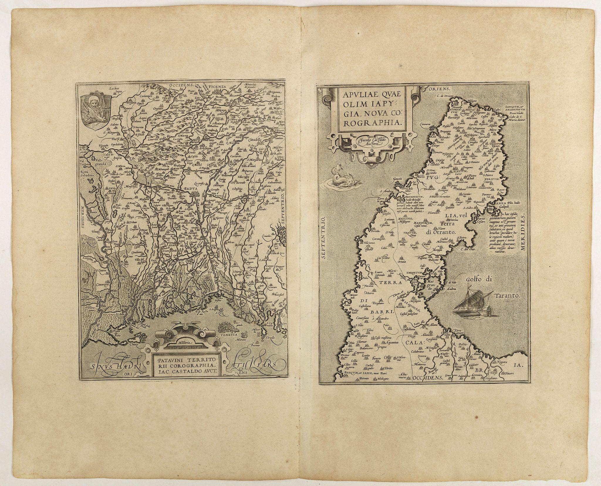 ORTELIUS, A. -  Patavini territorii../ Tarvisini agri typus.. (2 maps)