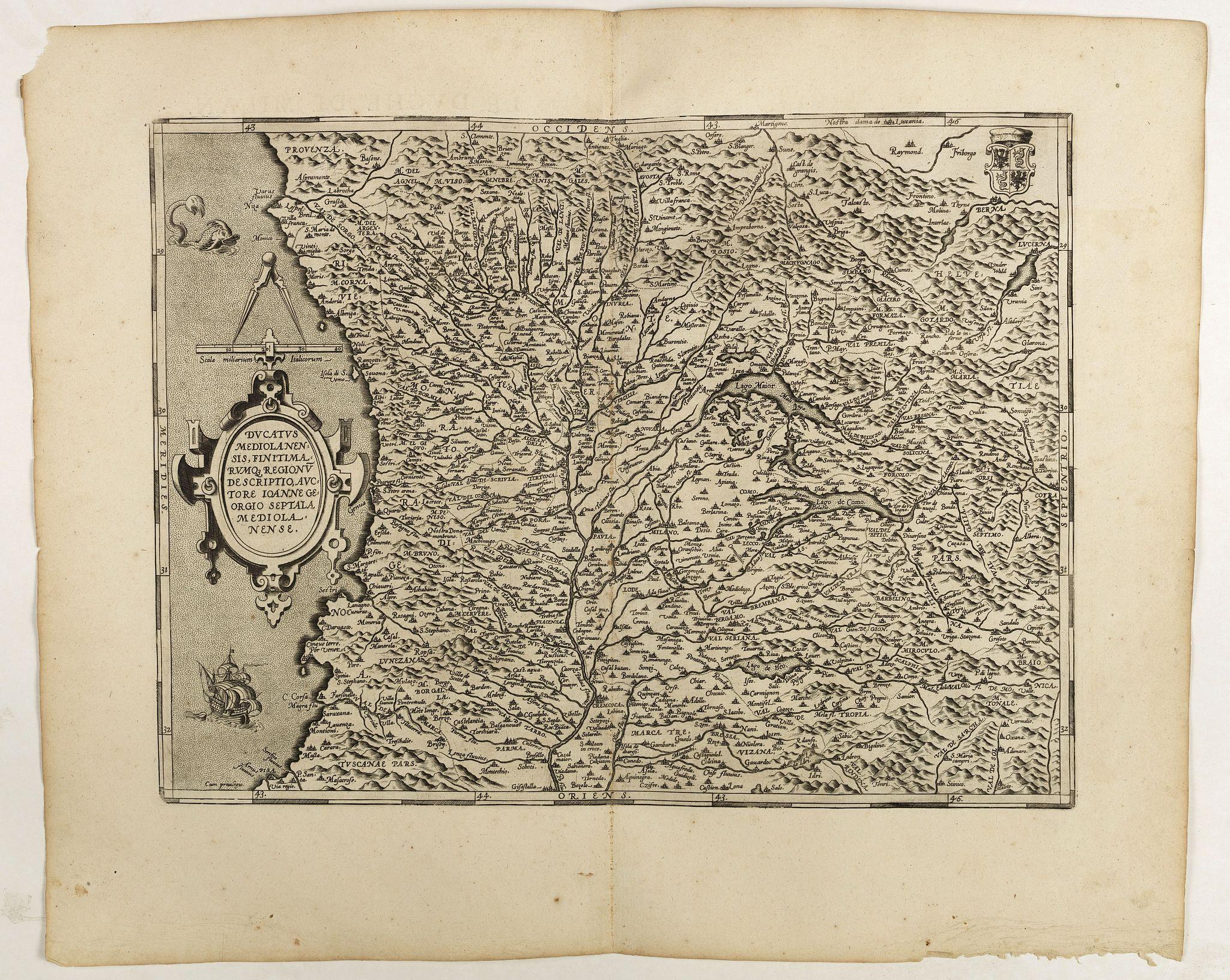 ORTELIUS, A. -  Ducatus Mediolanensis.