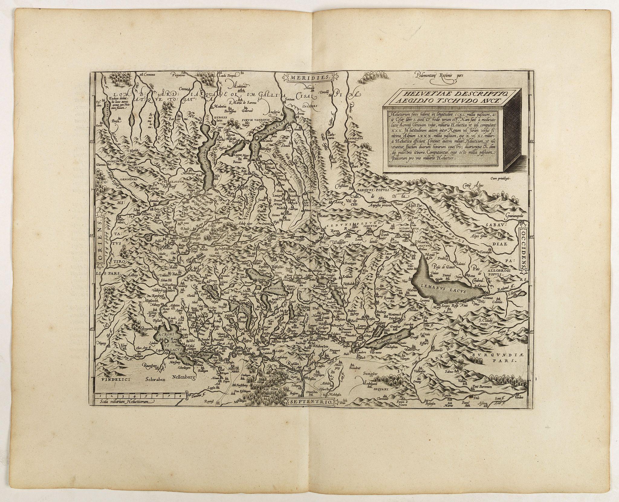 ORTELIUS, A. -  Helvetiae Descriptio . . .
