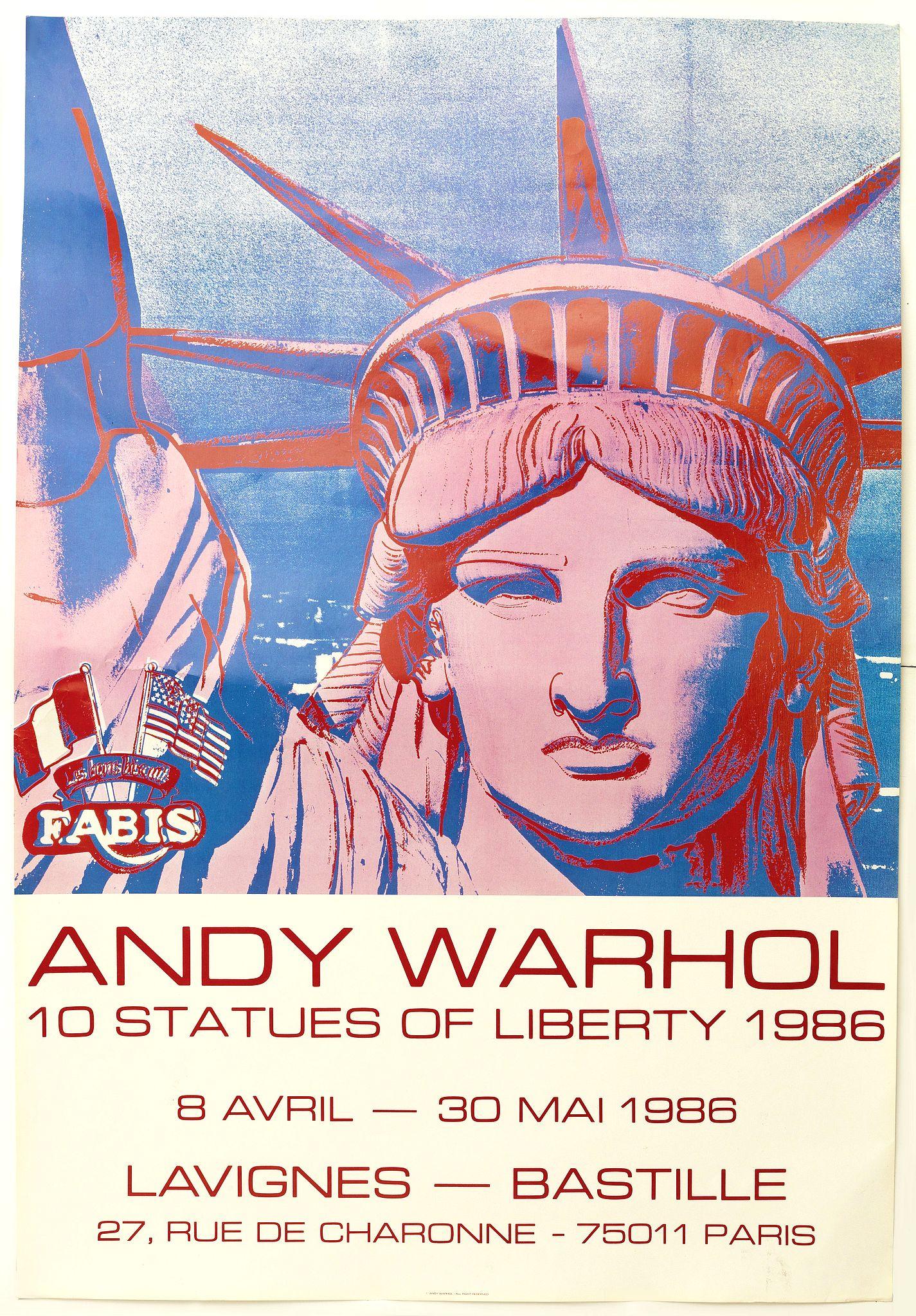 andy warhol statue of liberty