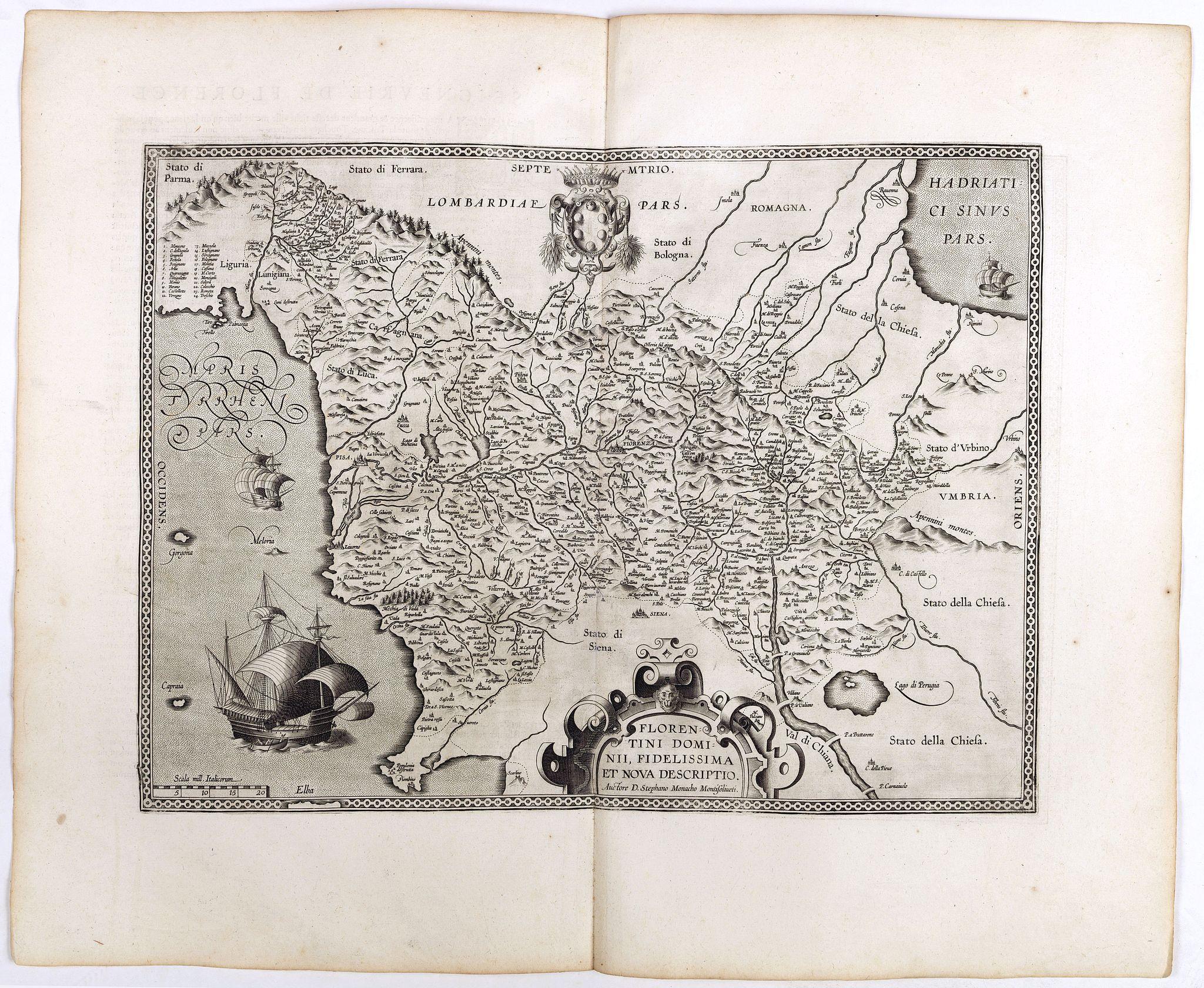 ORTELIUS, A. -  Florentini Dominii Fidelissima et nova descriptio.