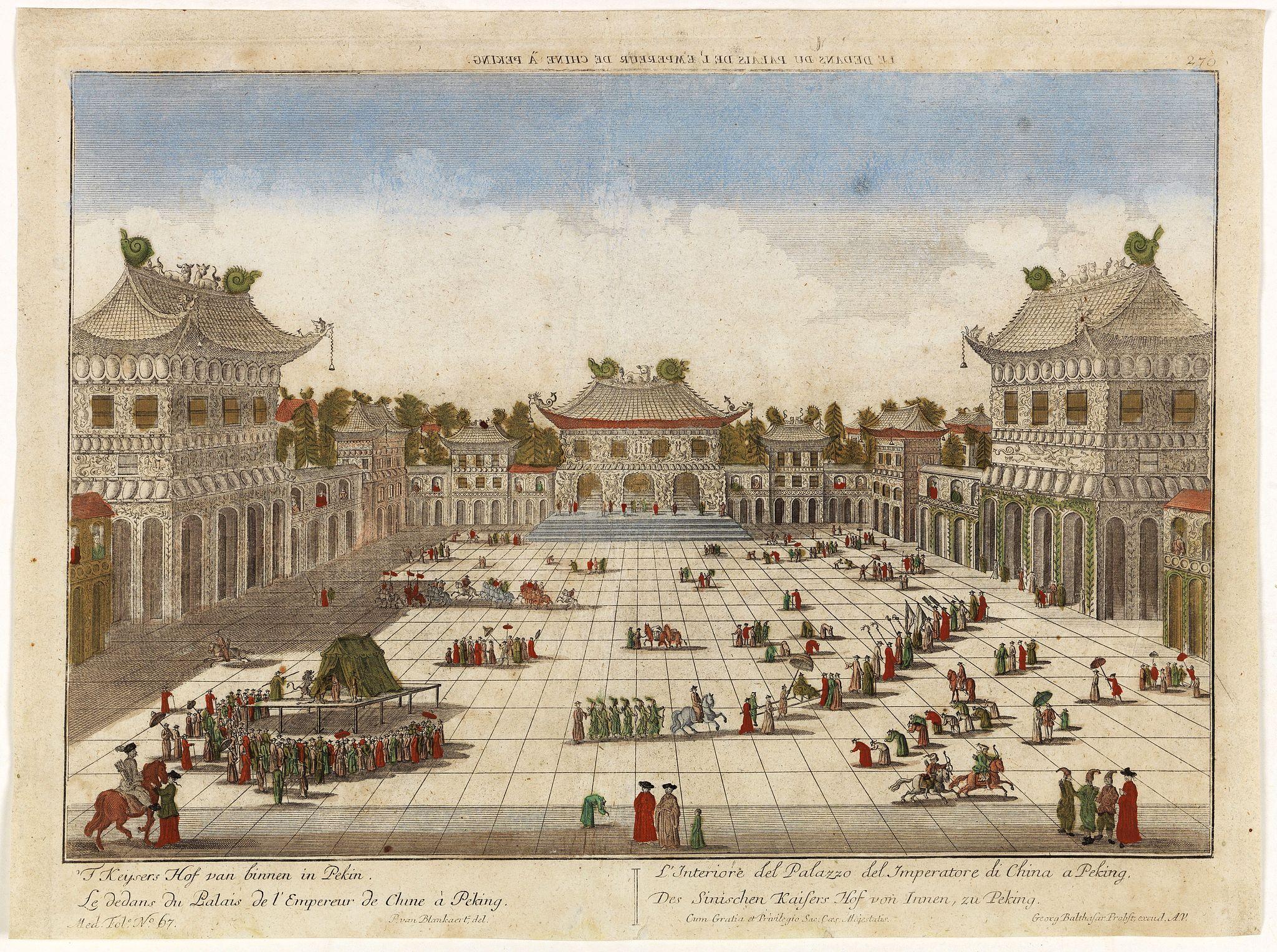 PROBST,G.B. -  Le dedans du Palais de l'Empereur de Chine à Peking.