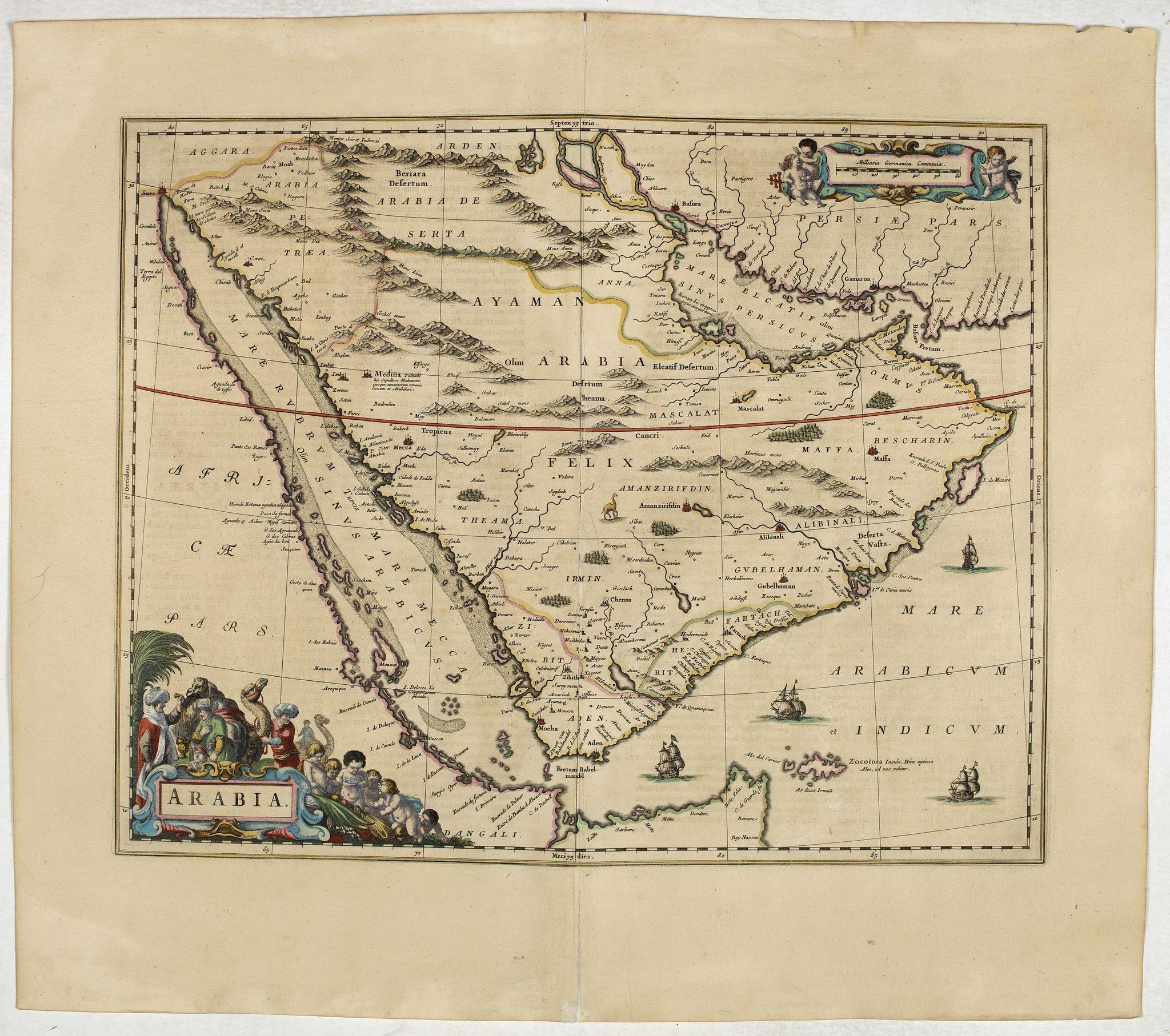 BLAEU, J. -  Arabia.