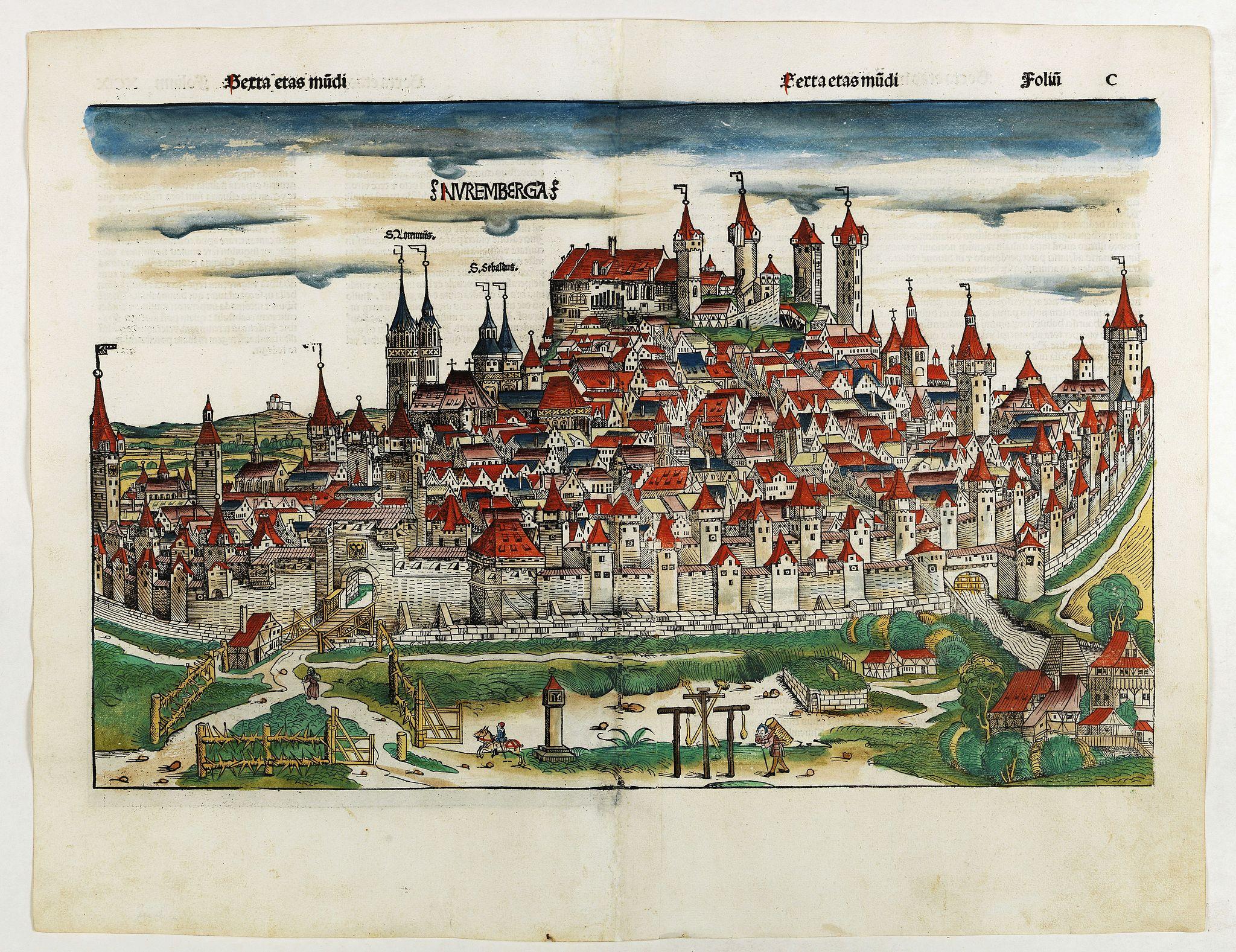 SCHEDEL, H. -  Nuremberga. Folio C.