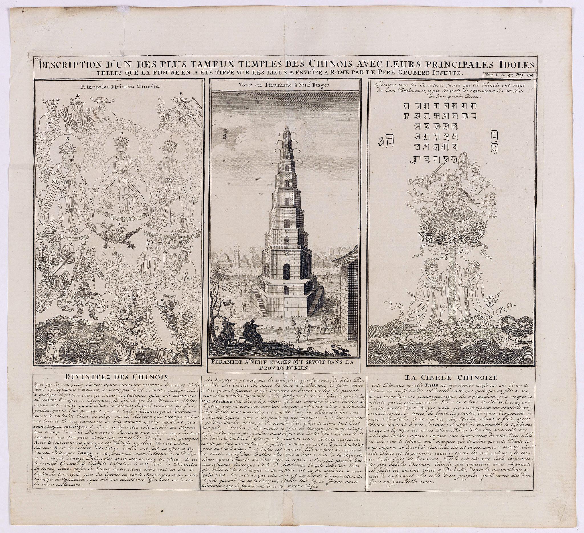 CHATELAIN, H. -  Description d'un des plus fameux temples des Chinois..