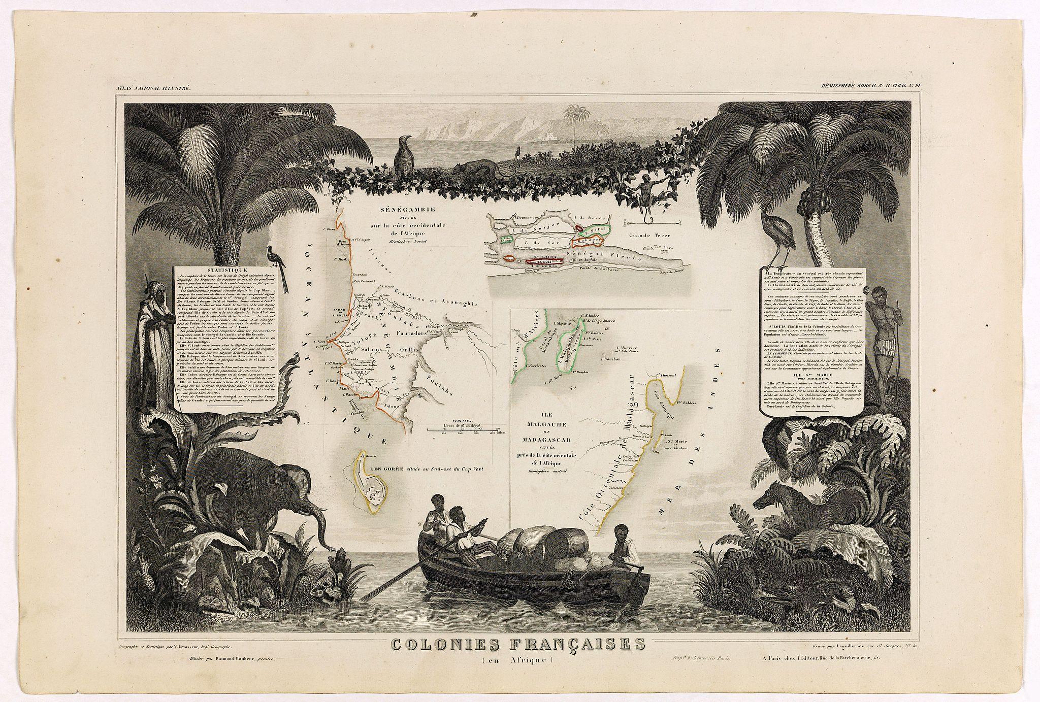 LEVASSEUR, V. -  Colonies Françaises (en Afrique). N°91.