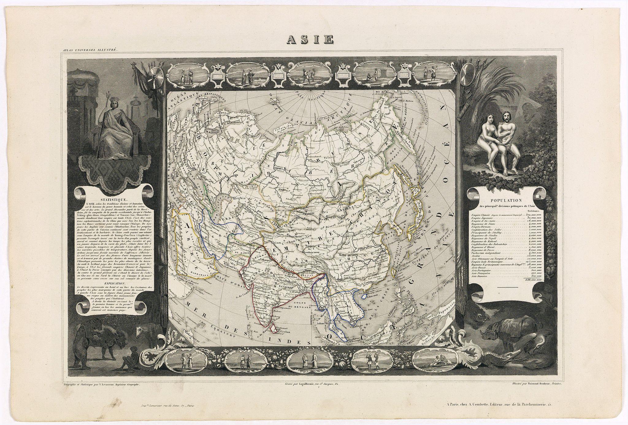 LEVASSEUR, V. - Carte de l'Asie.
