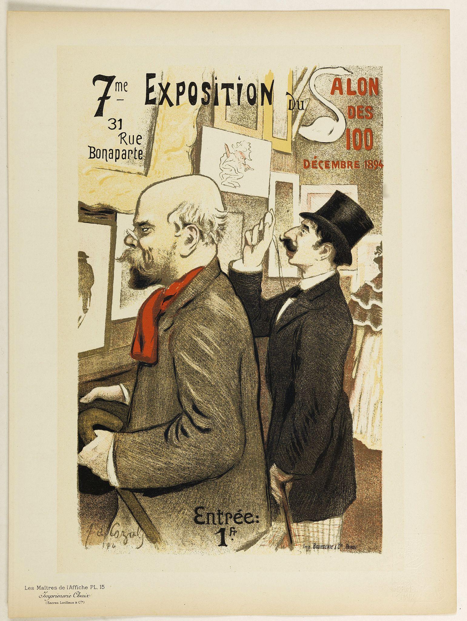 LES MAITRES DE L'AFFICHE - 7eme Exposition du Salon des 100.
