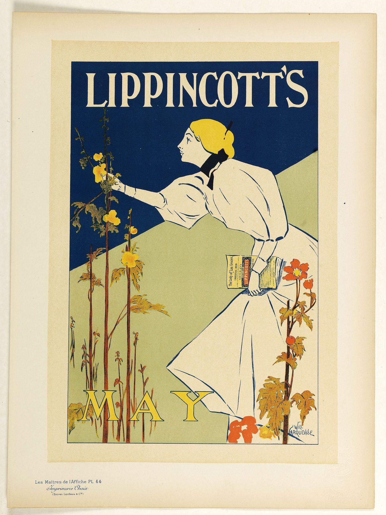 LES MAITRES DE L'AFFICHE -  Lippincott's, May.