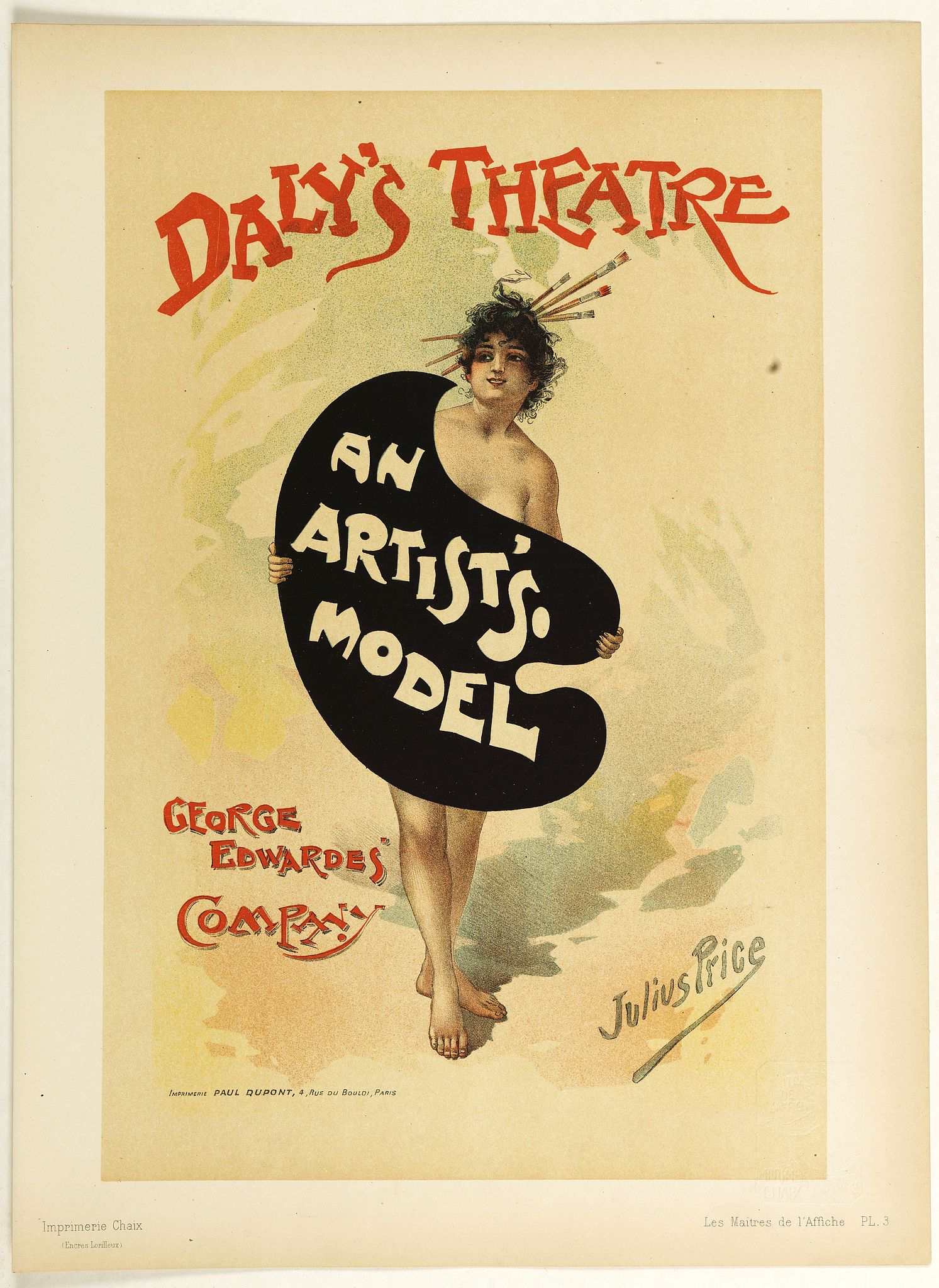 LES MAITRES DE L'AFFICHE -  An Artist's Model.