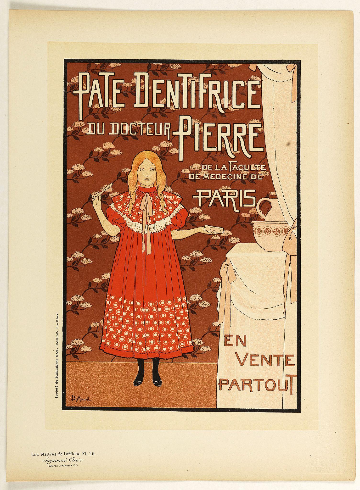 LES MAITRES DE L'AFFICHE - Pate dentifrice du Docteur Pierre . . .