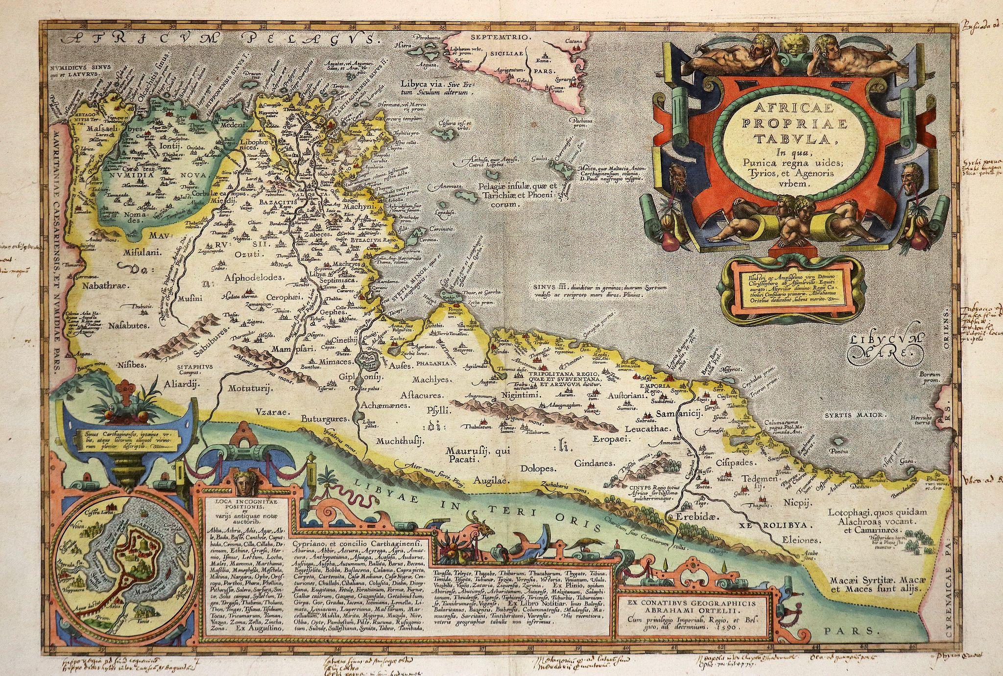 ORTELIUS, A. - Africae propriae Tabula..