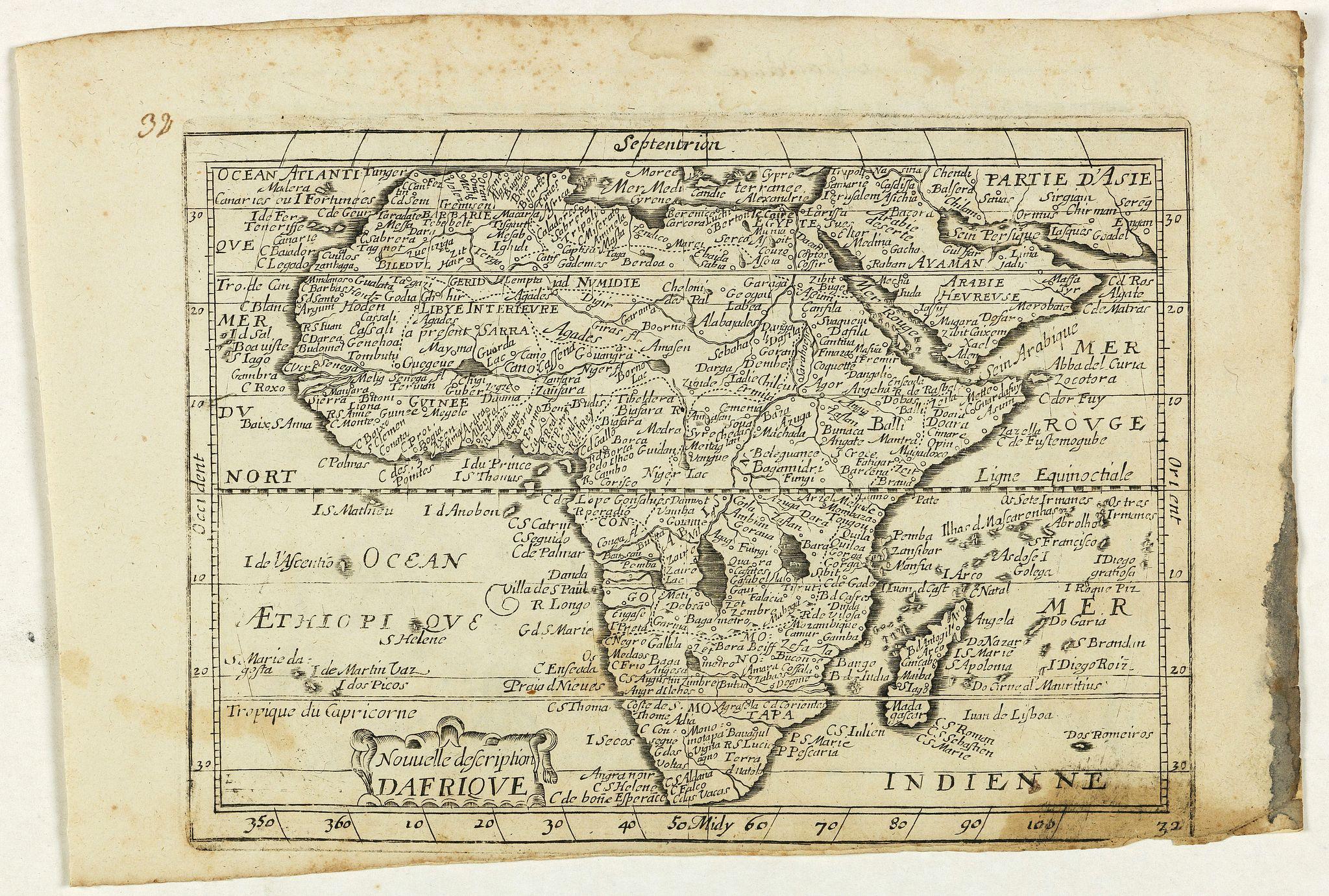 JOLLAIN, G. -  Nouvelle description d'Afrique.