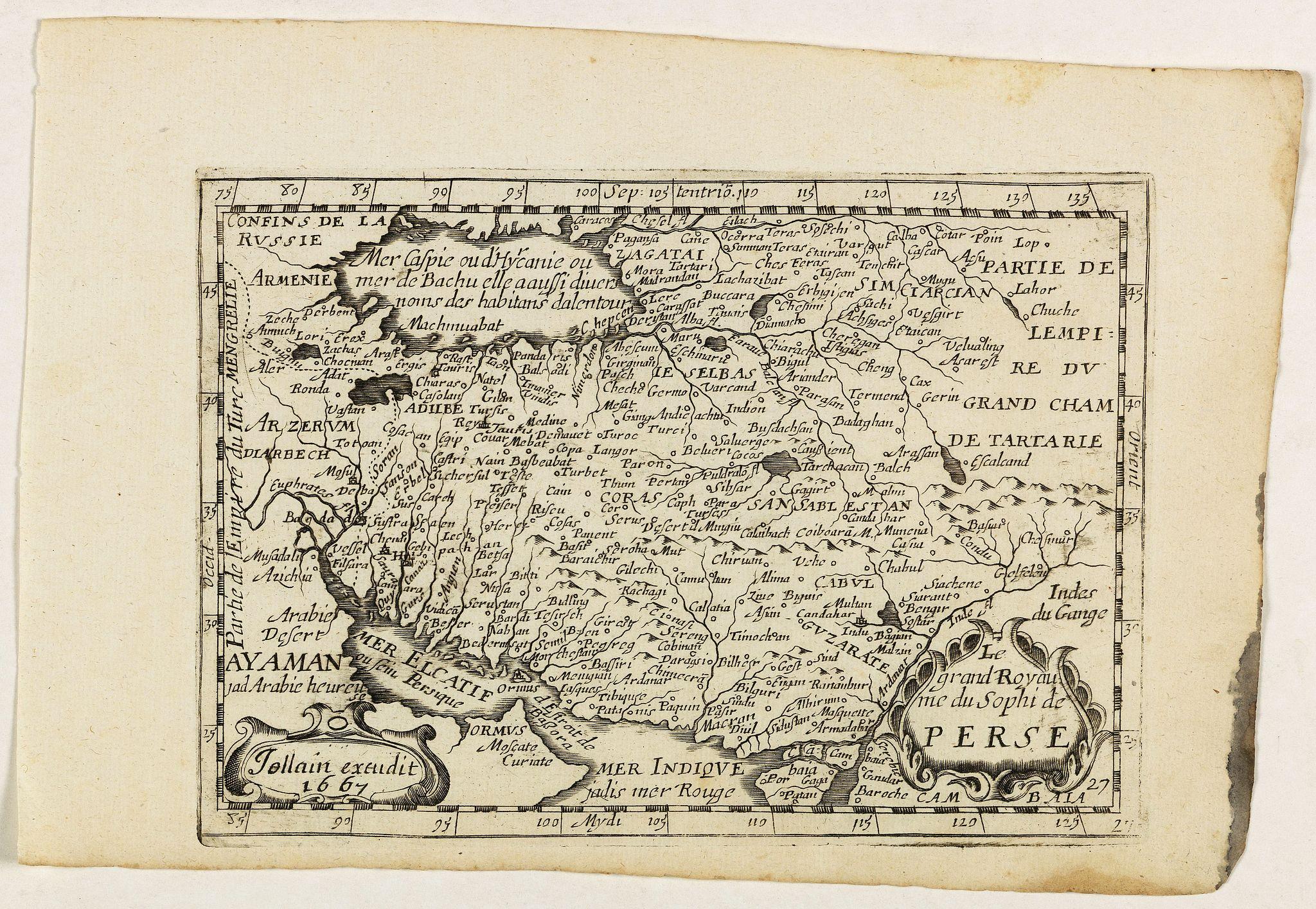 JOLLAIN, G. -  Le grand Royaume du Sophi de Perse.