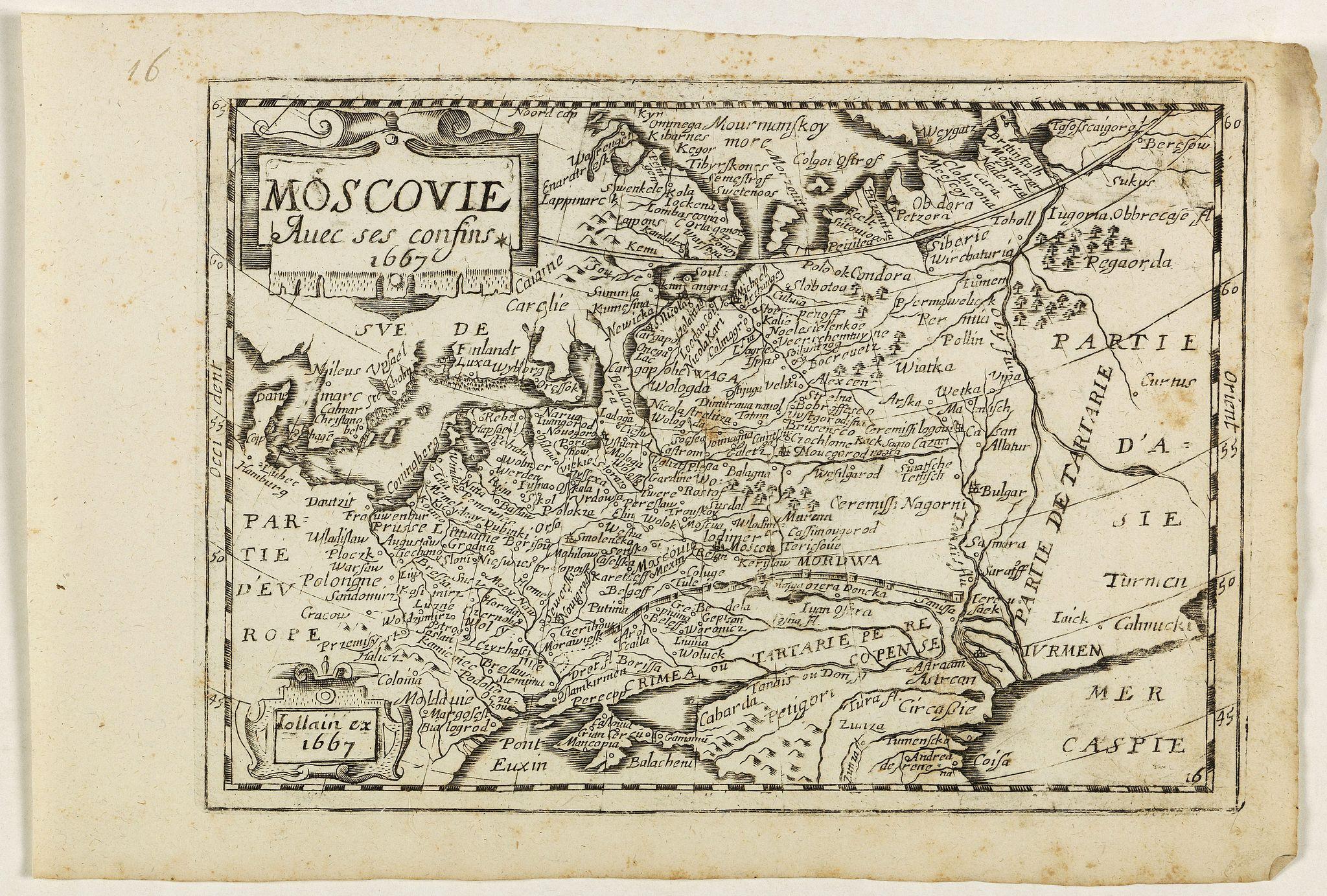 JOLLAIN, G. -  Moscovie avec ses confins.
