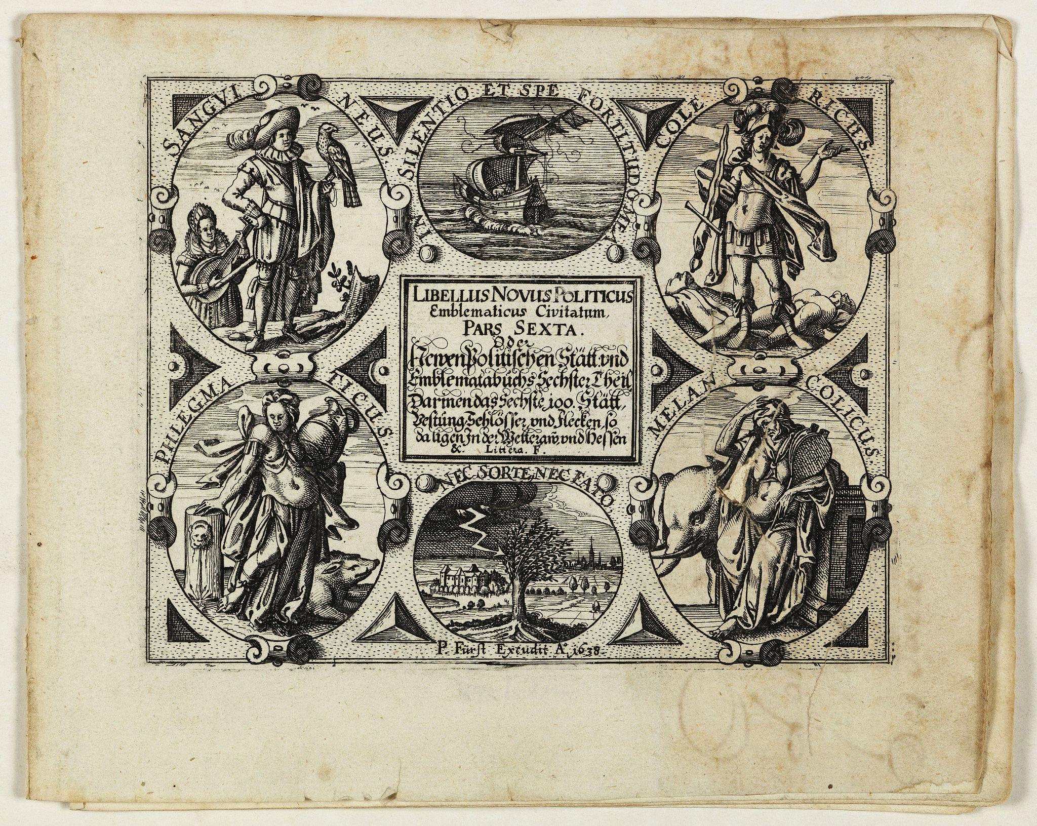 MEISNER, D. -  [Title page] Libellus Novus Politicus.. Pars Sexta.