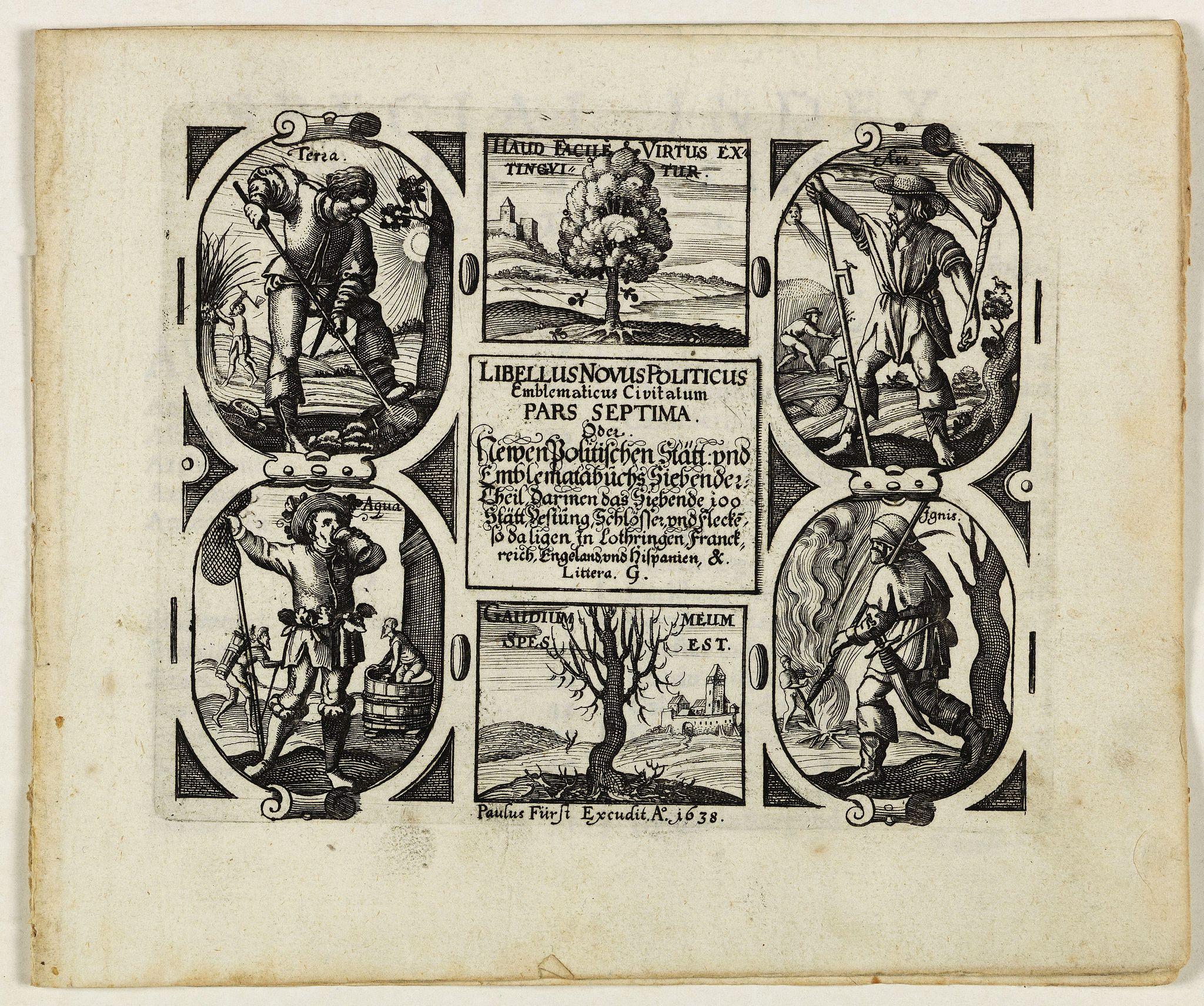 MEISNER, D. -  [Title page] Libellus Novus Politicus. . .  Pars Spetima.