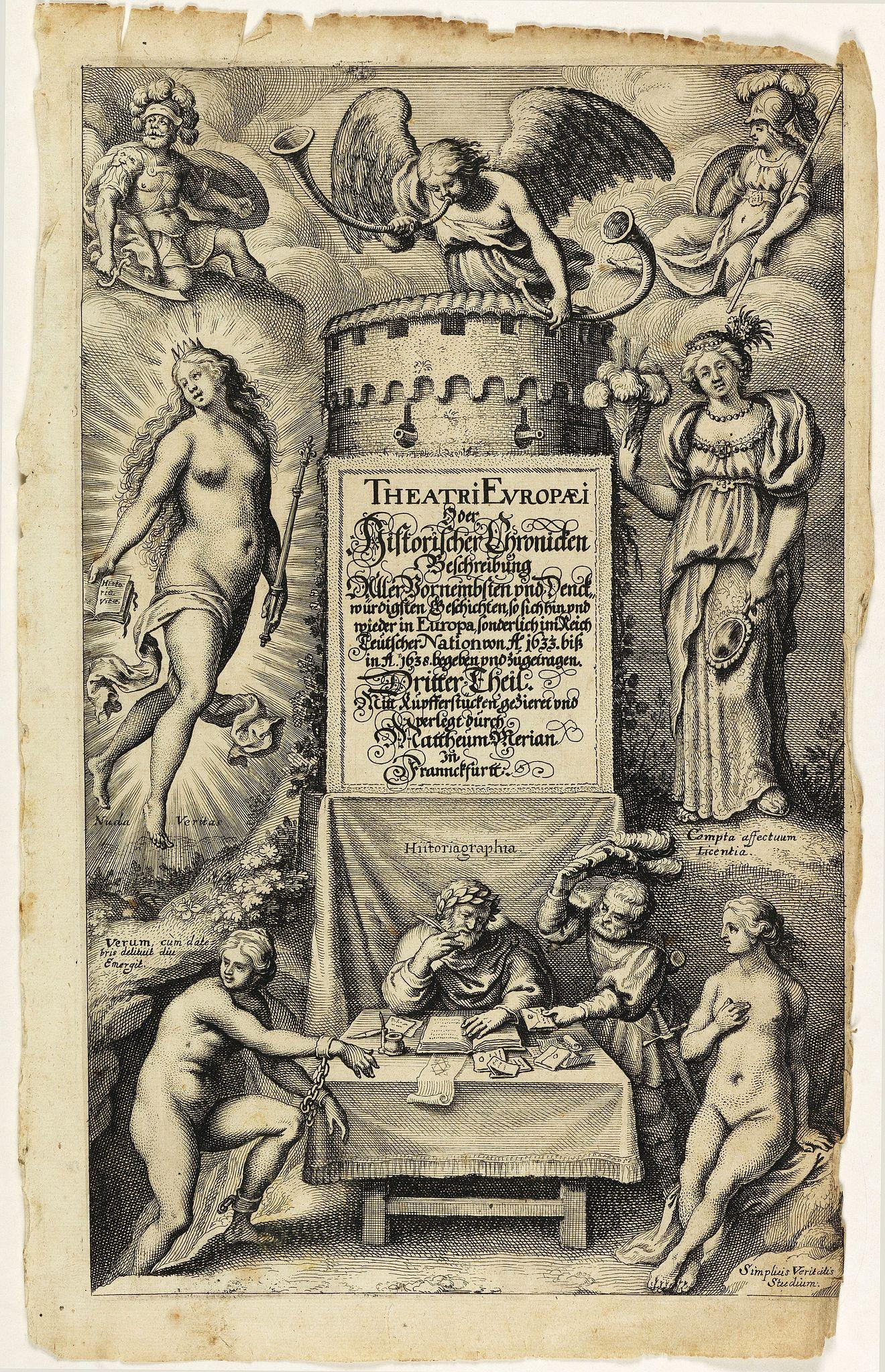 MERIAN, M. -  [Title page] Theatri Europaei, oder historischer chronicken Beschreibung . . .