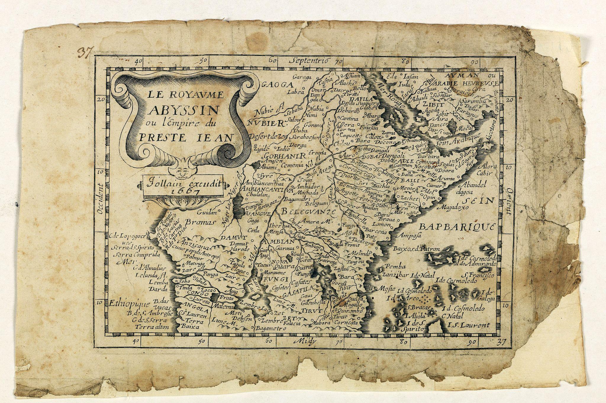 JOLLAIN, G. -  Le Royaume Abyssin ou l'Empire du Presteiean.