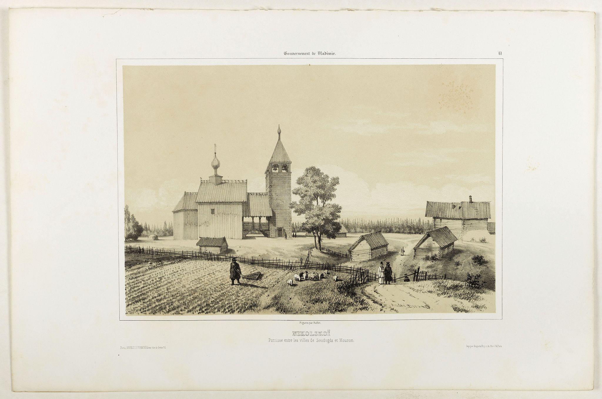 GIBAUT FRERES  / DURAND, A.. -  Nikolskoï paroisse entre les villes de Soudogda et Mouroum.