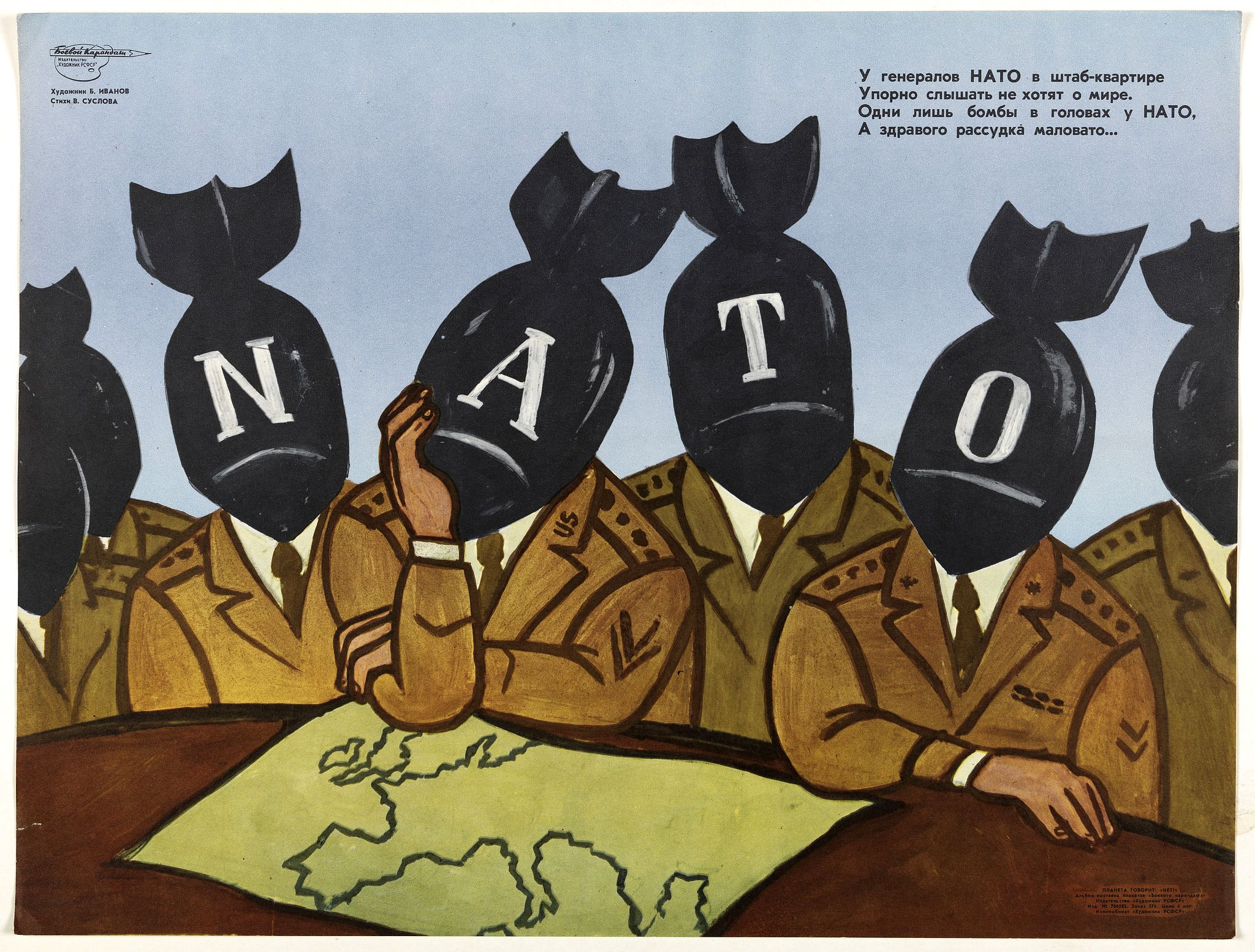 IVANOV, B. -  The NATO generals at headquarters do not want to hear about peace . . .