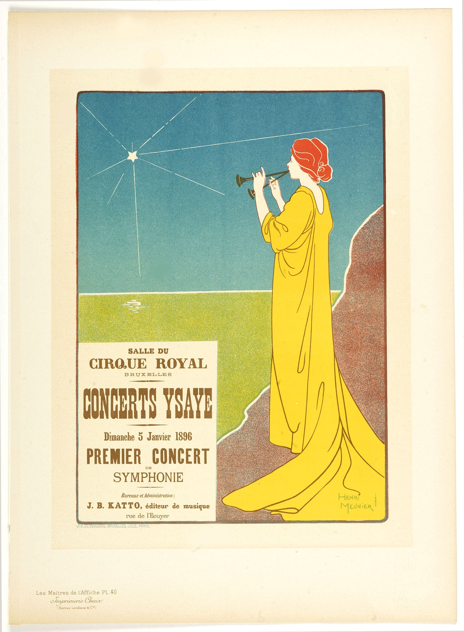 MEUNIER, H. -  Concerts Ysaye . . .