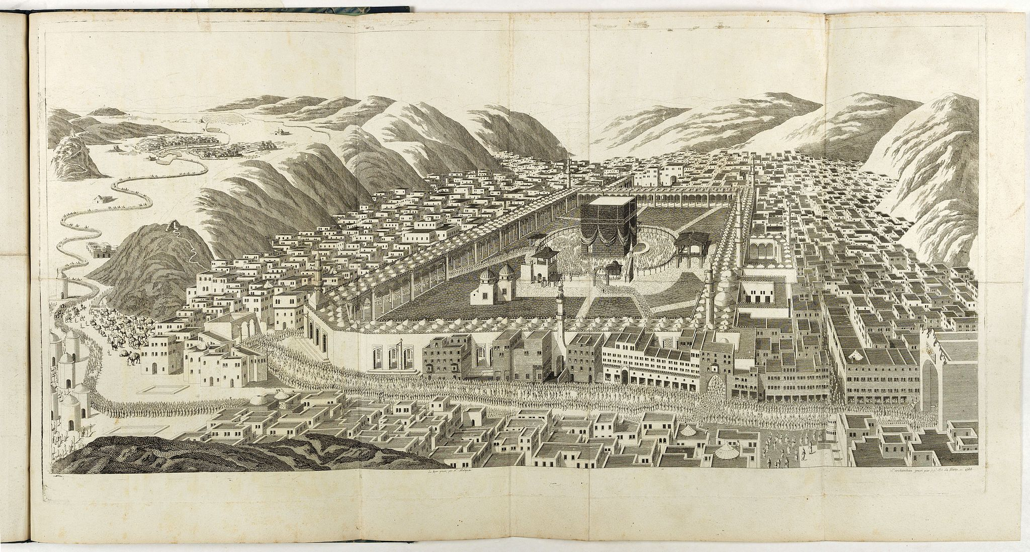 MOURADJA D'OHSSON, Ignace. -  [Tableau Général de l'Empire Ottoman]. 11 plates with the panoramic view of Mecca.