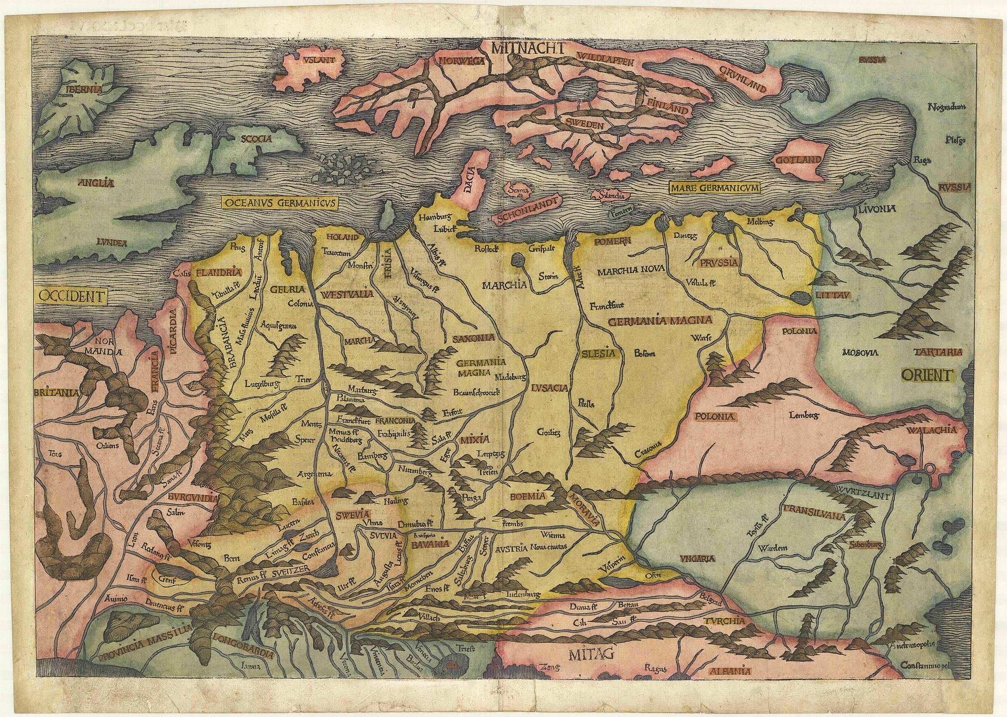 SCHEDEL, H.,  (EUROPE)., antique map, old maps