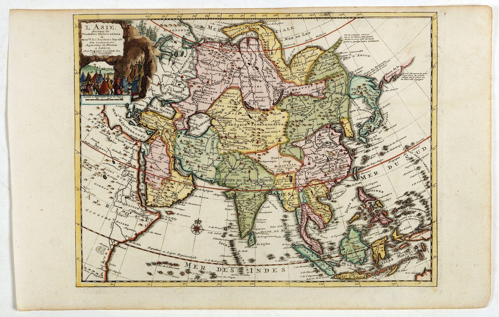 AA, P. van der -  L'Asie suivant les nouvelles observations…