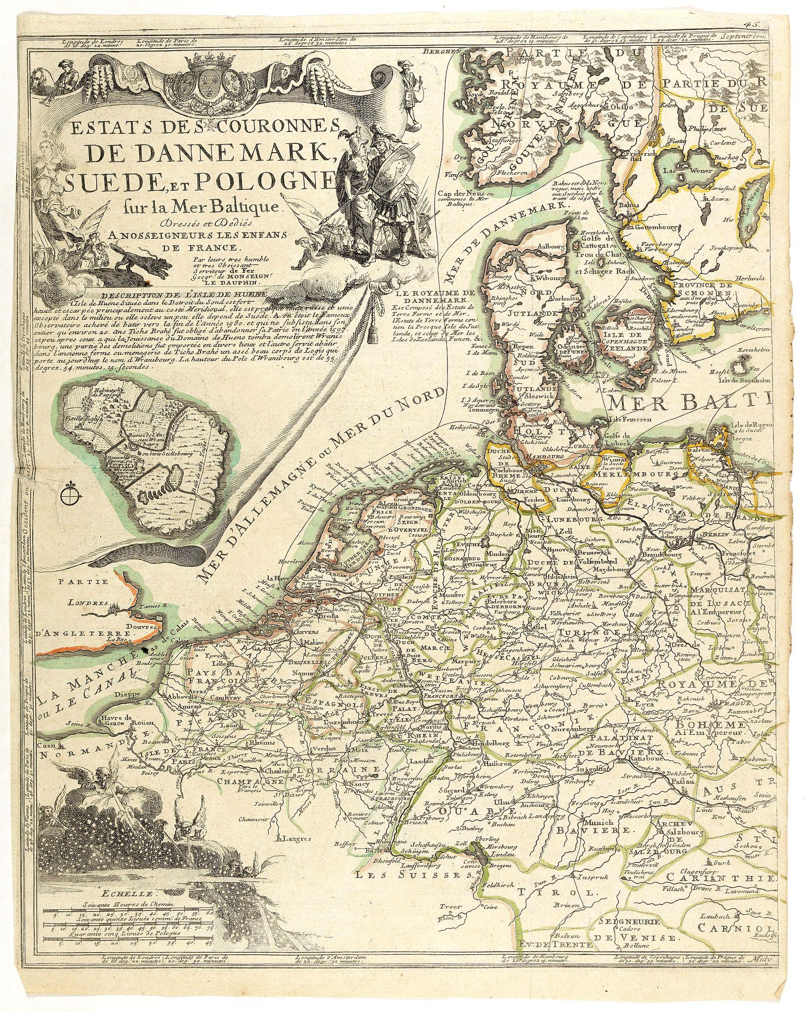 DE FER, N. -  Estats..de Dannemark, Suede, et Pologne..