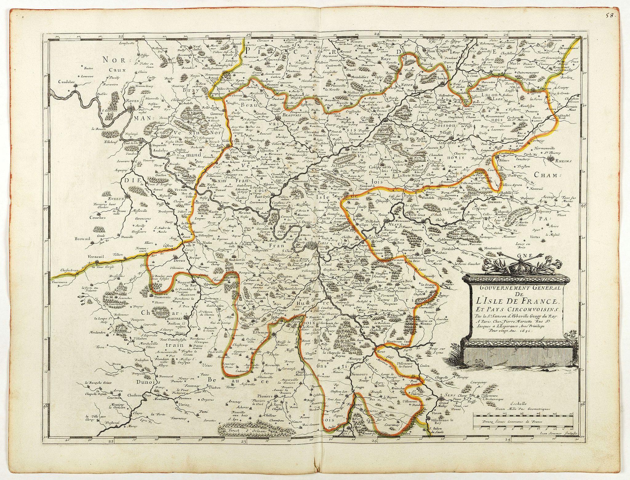 SANSON, N. / MARIETTE, P. -  Gouvernement General de l'Ile de France. . .